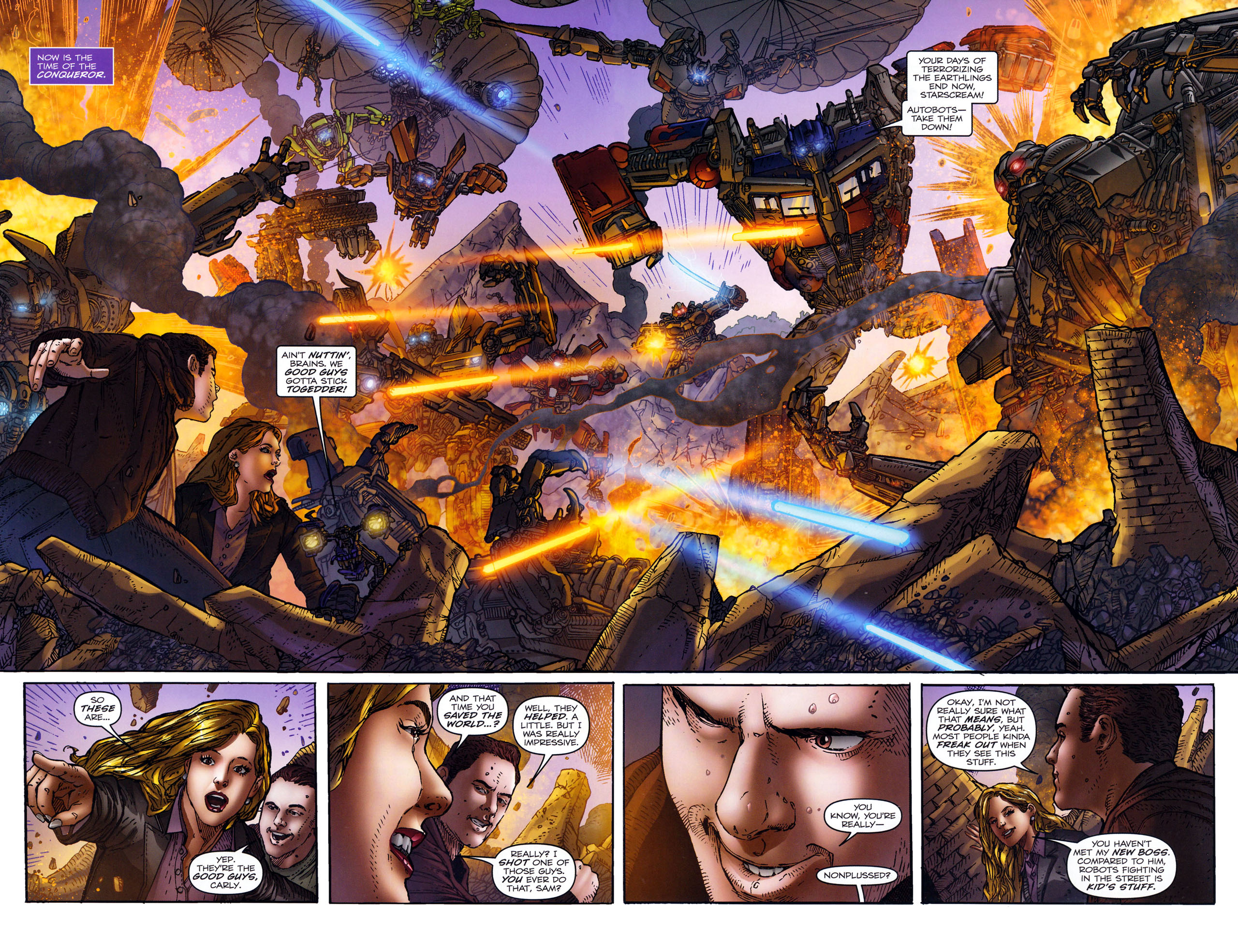 Read online Transformers: Dark of the Moon Rising Storm comic -  Issue #4 - 4