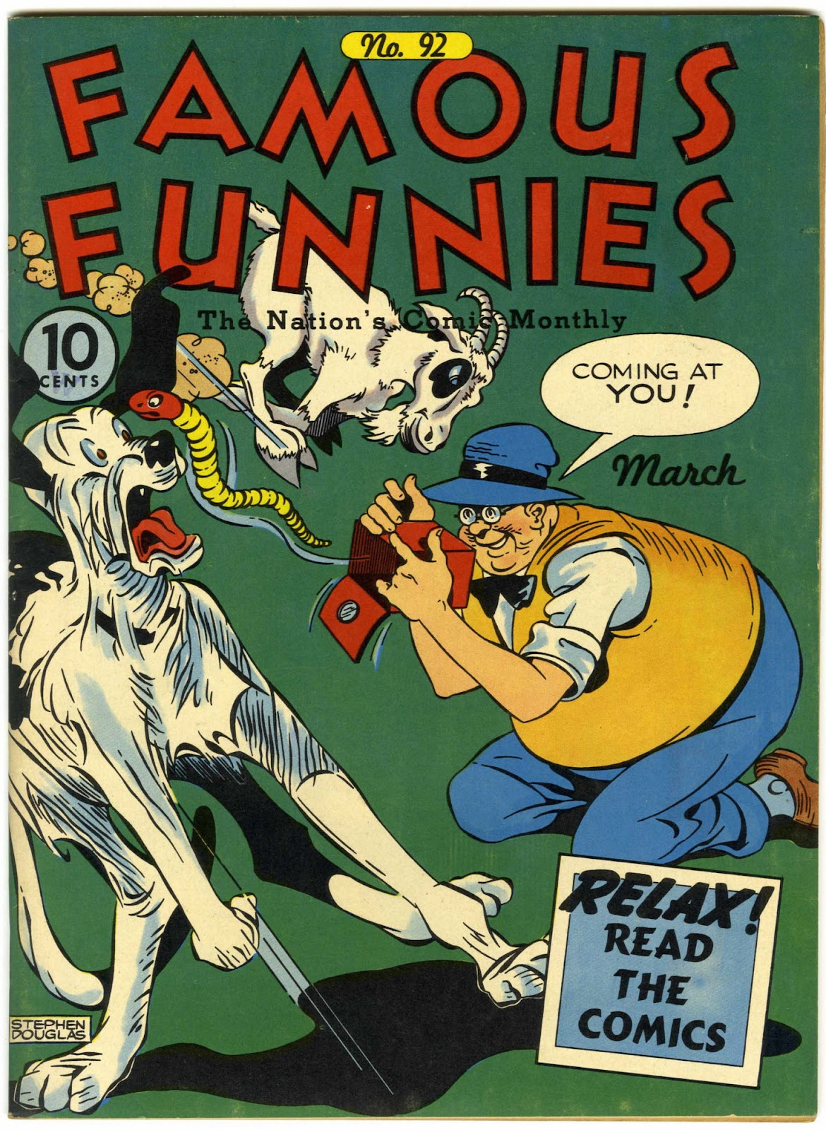 Read online Famous Funnies comic -  Issue #92 - 1