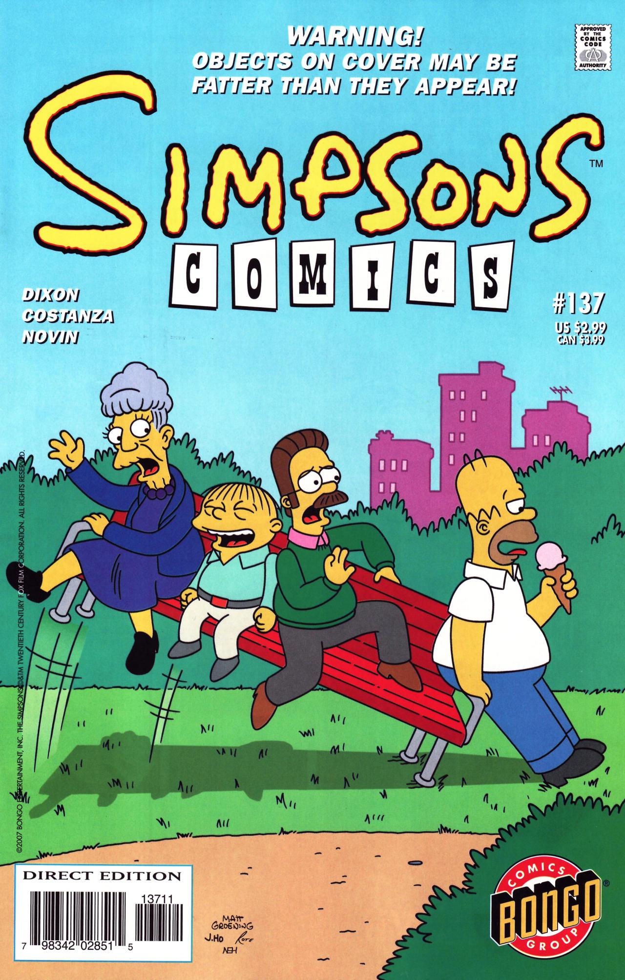 Read online Simpsons Comics comic -  Issue #137 - 1