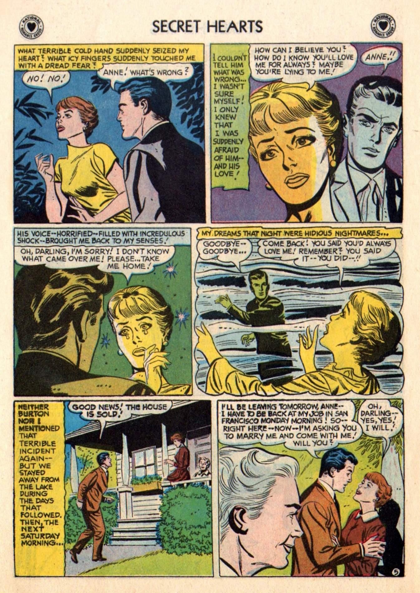 Read online Secret Hearts comic -  Issue #48 - 7