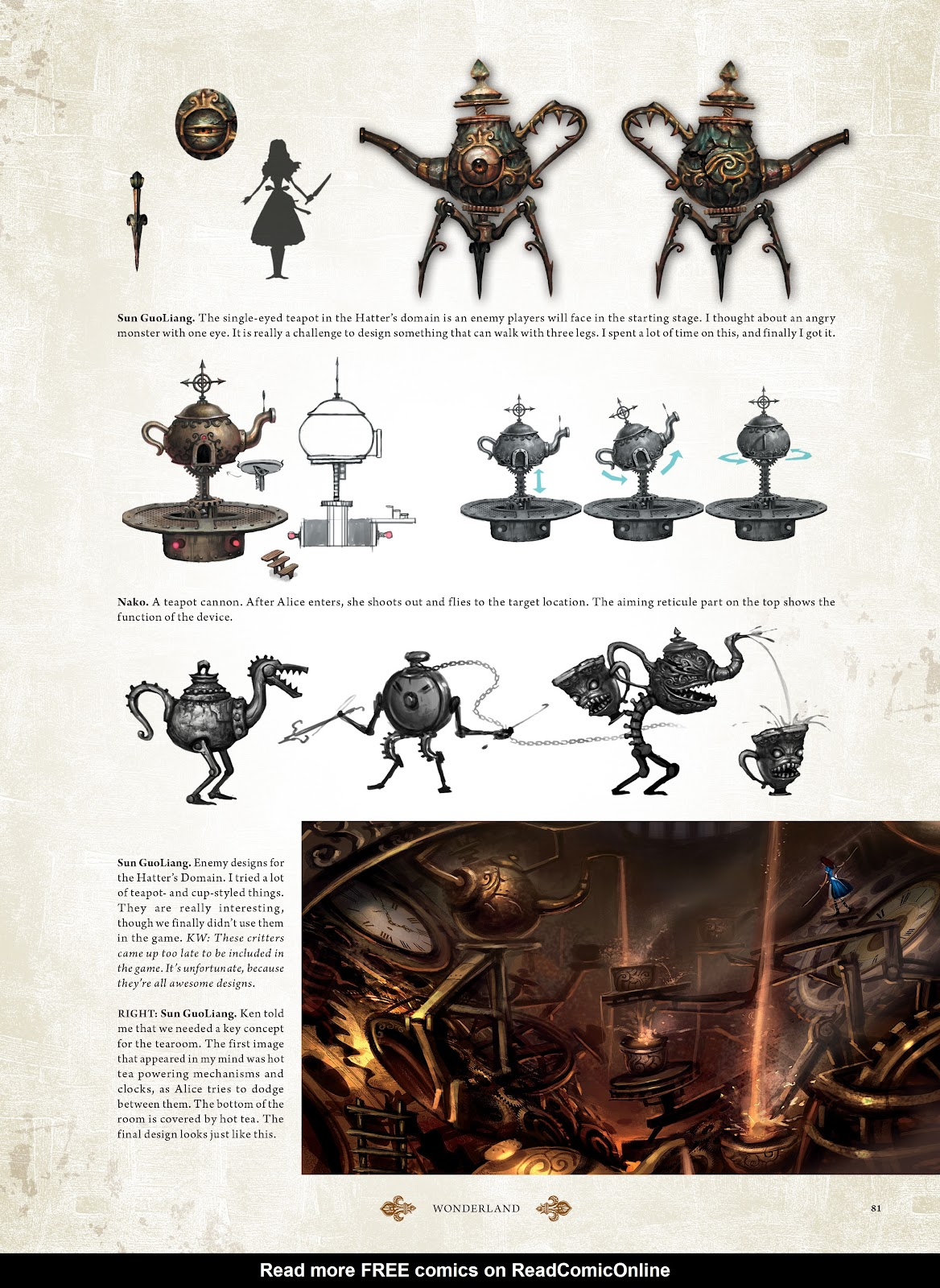 Read online The Art of Alice: Madness Returns comic -  Issue # TPB (Part 1) - 72