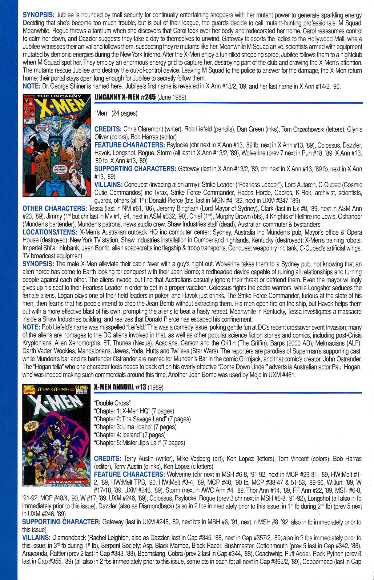 Read online Official Index to the Marvel Universe comic -  Issue #6 - 54