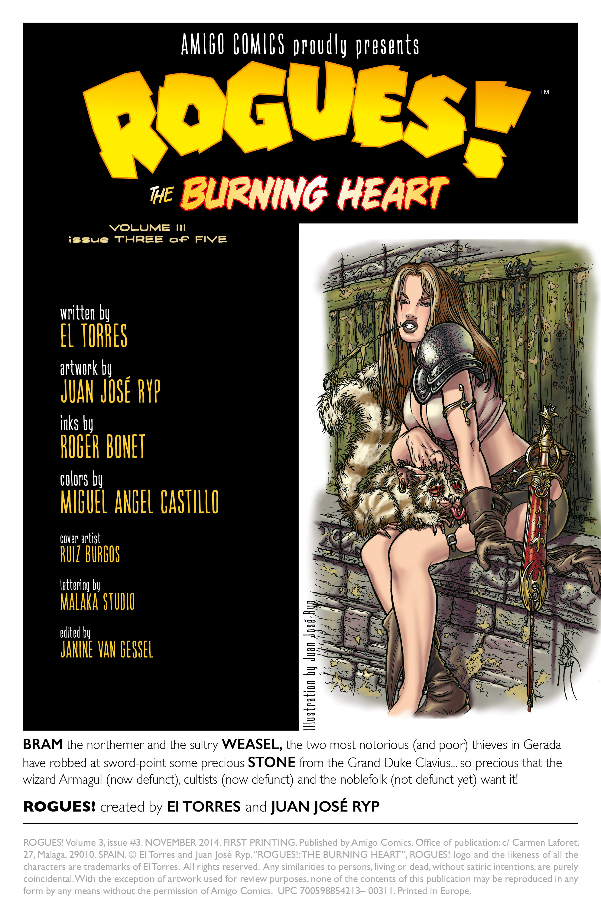 Read online Rogues!: The Burning Heart comic -  Issue #3 - 2