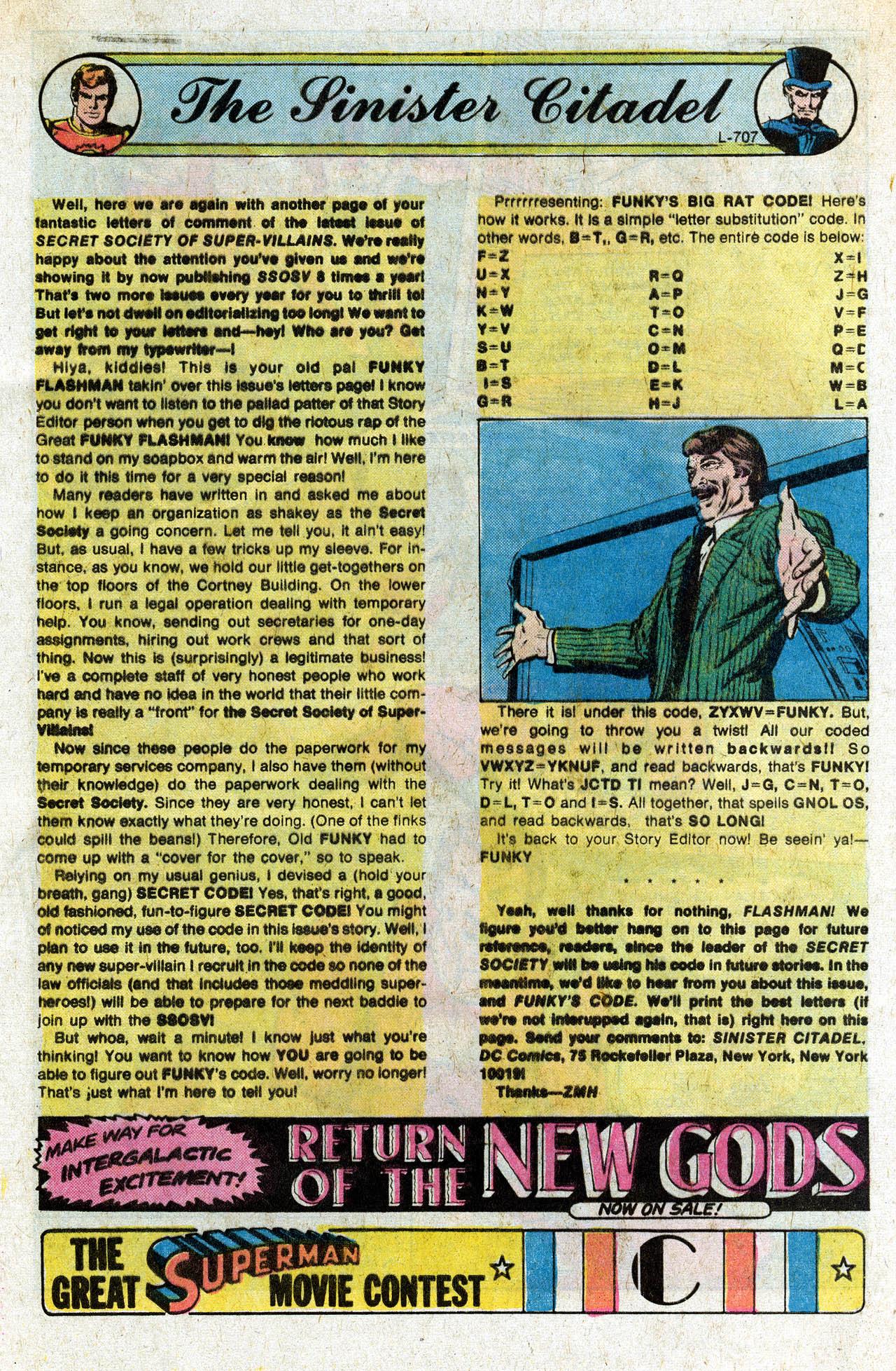 Read online Secret Society of Super-Villains comic -  Issue #9 - 32