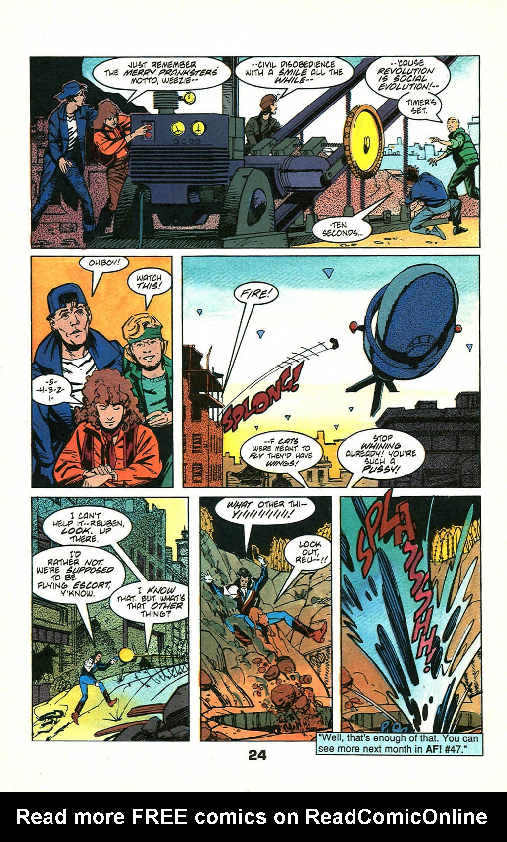 Read online American Flagg! comic -  Issue #46 - 30