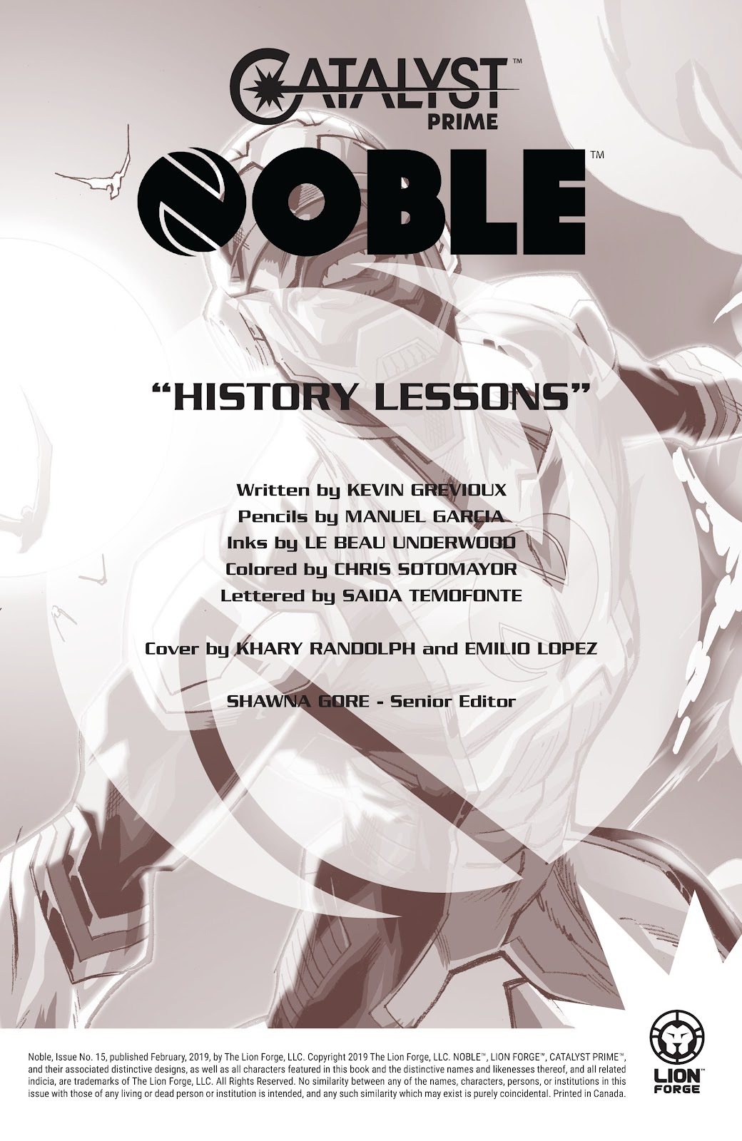 Read online Noble comic -  Issue #15 - 2