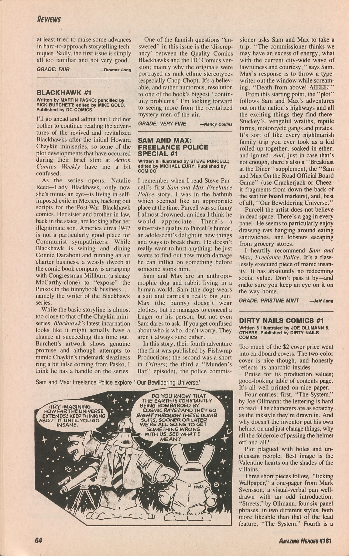 Read online Amazing Heroes comic -  Issue #161 - 64