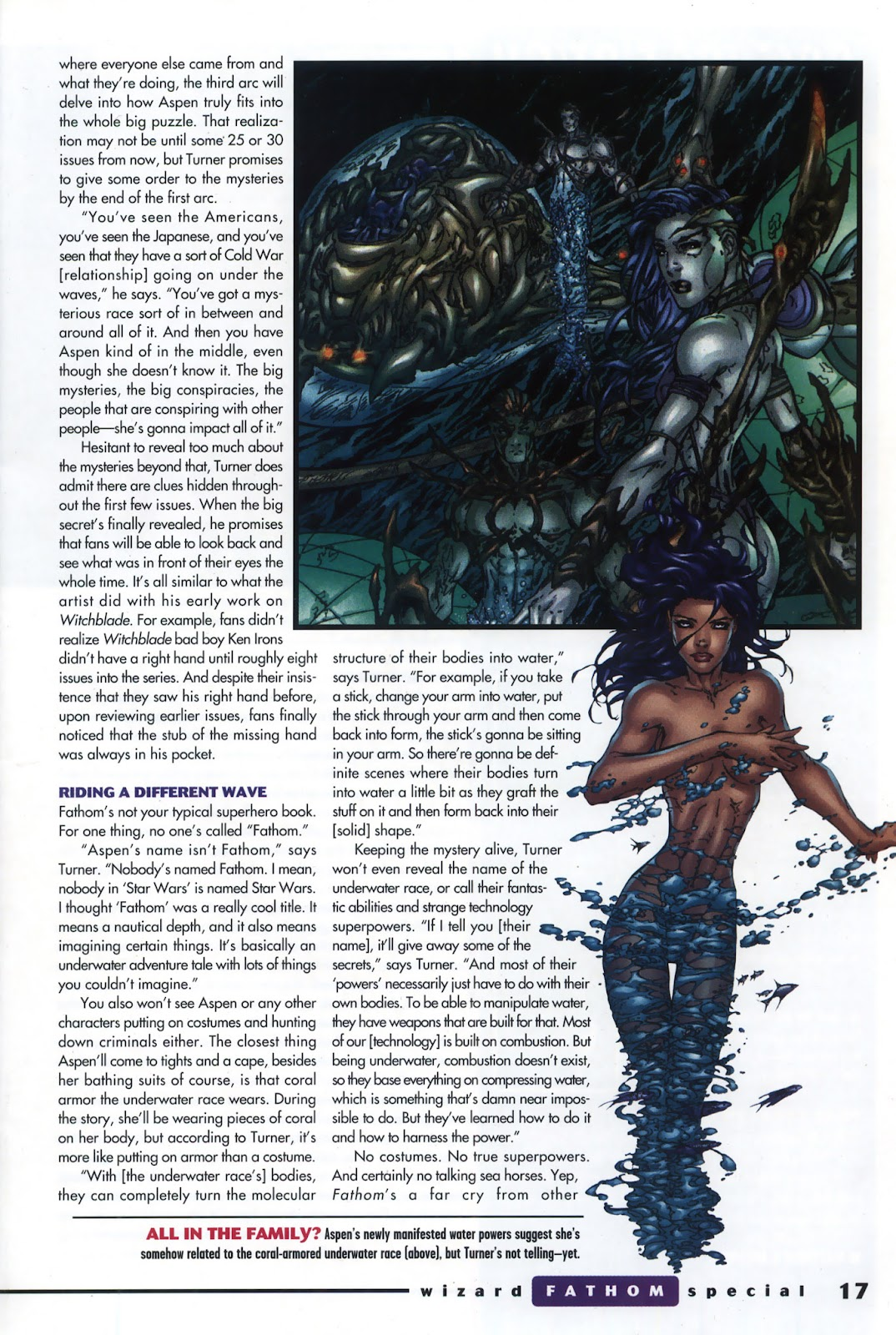 Read online Fathom Special comic -  Issue # Full - 12