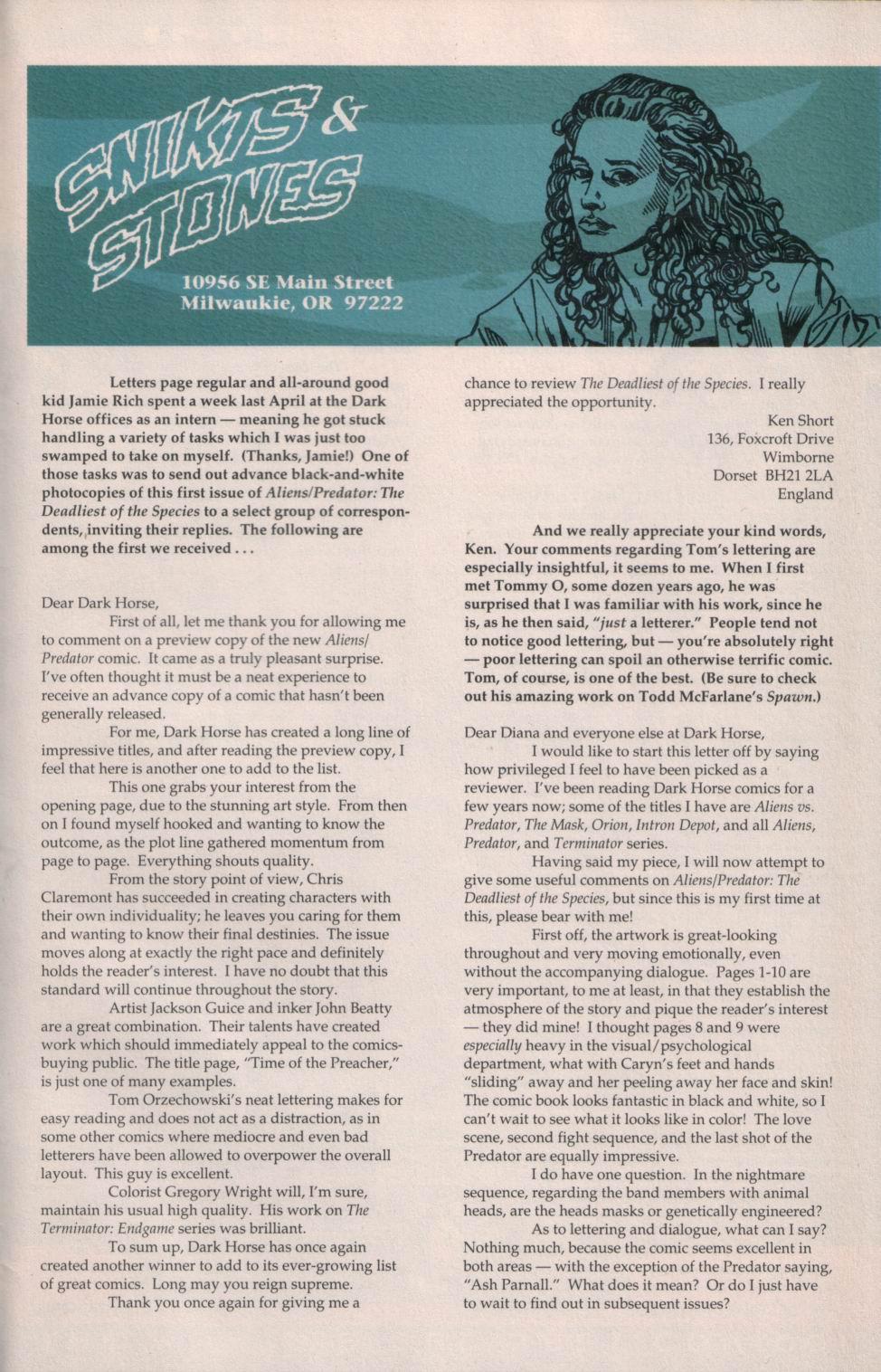 Read online Aliens/Predator: The Deadliest of the Species comic -  Issue #1 - 30