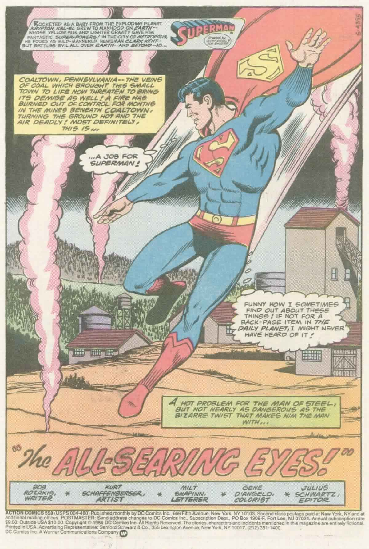 Read online Action Comics (1938) comic -  Issue #558 - 2