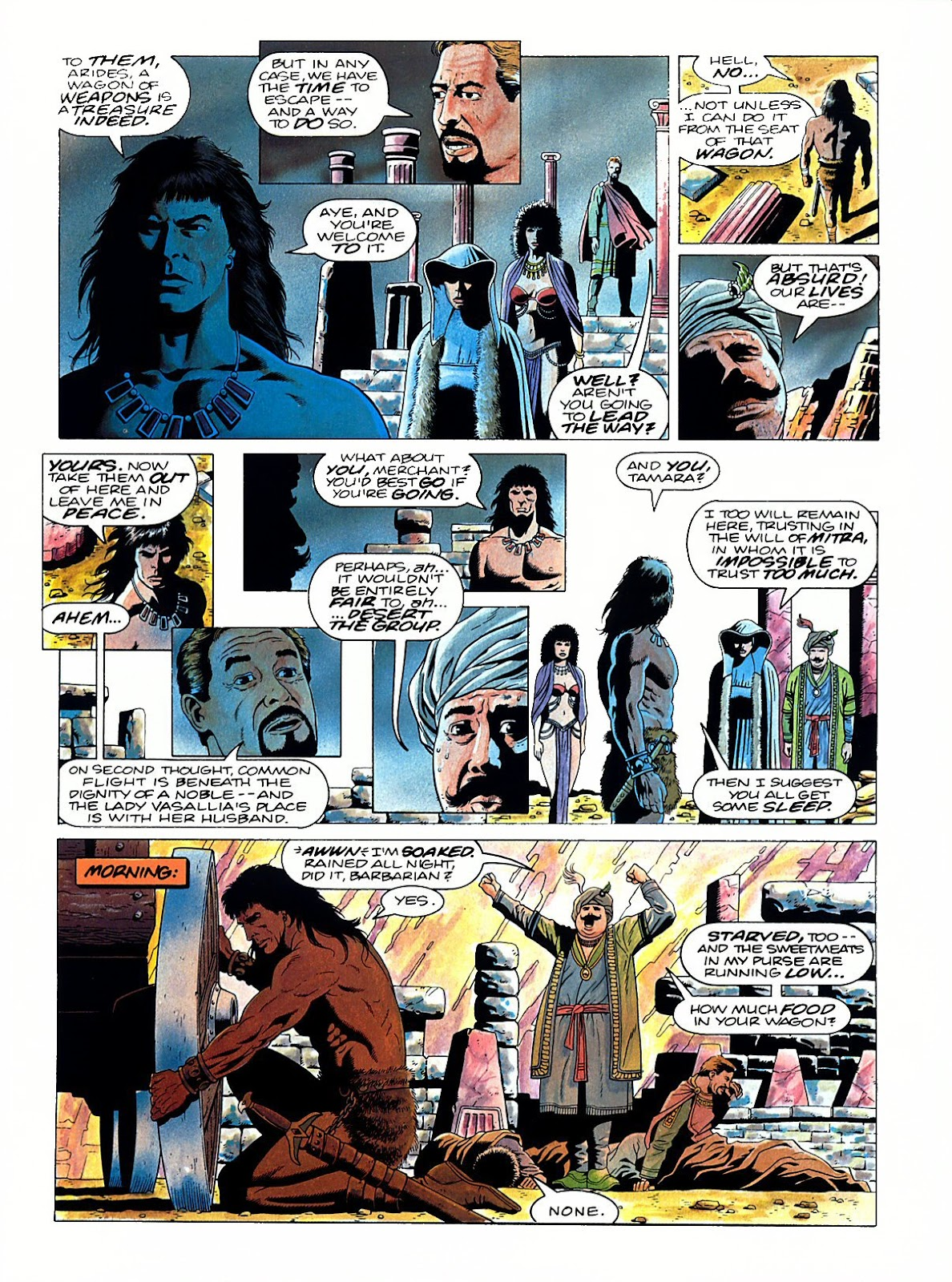 Read online Marvel Graphic Novel: Conan the Barbarian: The Skull of Set comic -  Issue # Full - 32