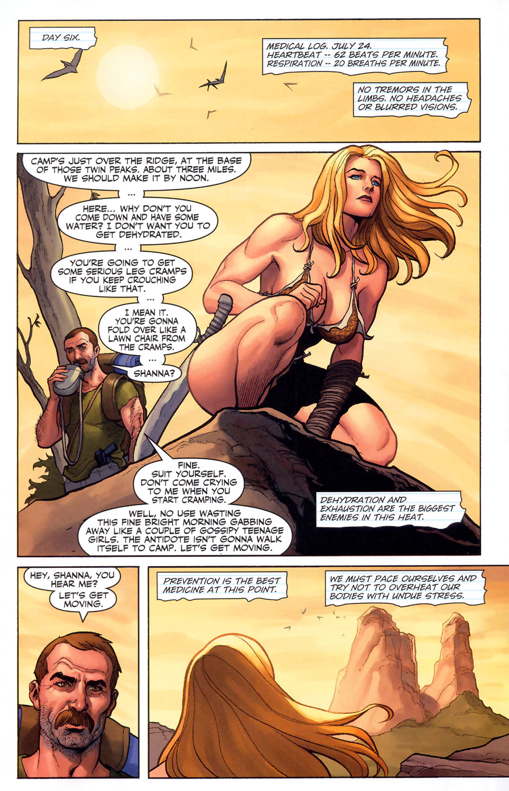 Read online Shanna, the She-Devil (2005) comic -  Issue #5 - 14