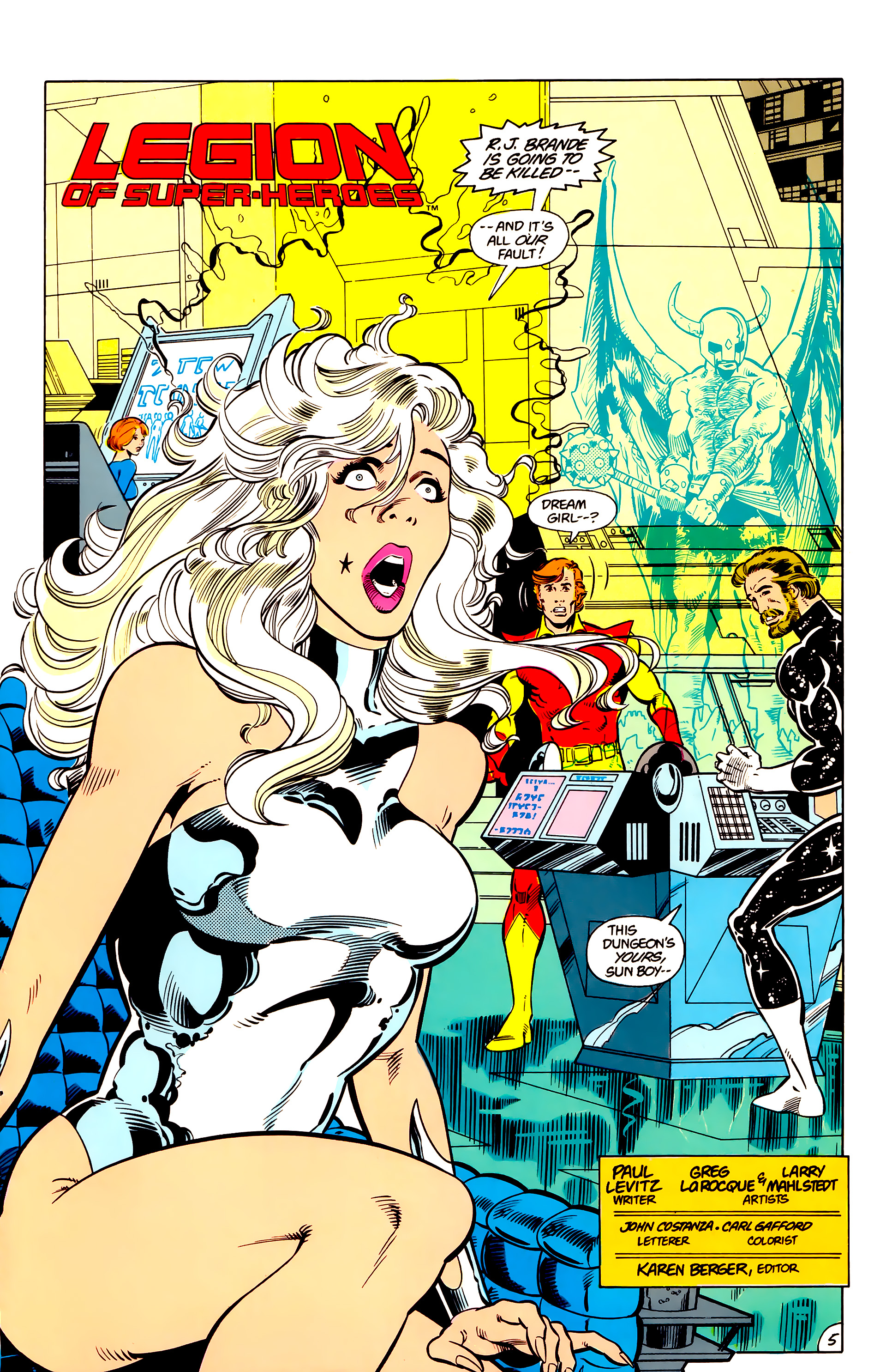 Legion of Super-Heroes (1984) 17 Page 6