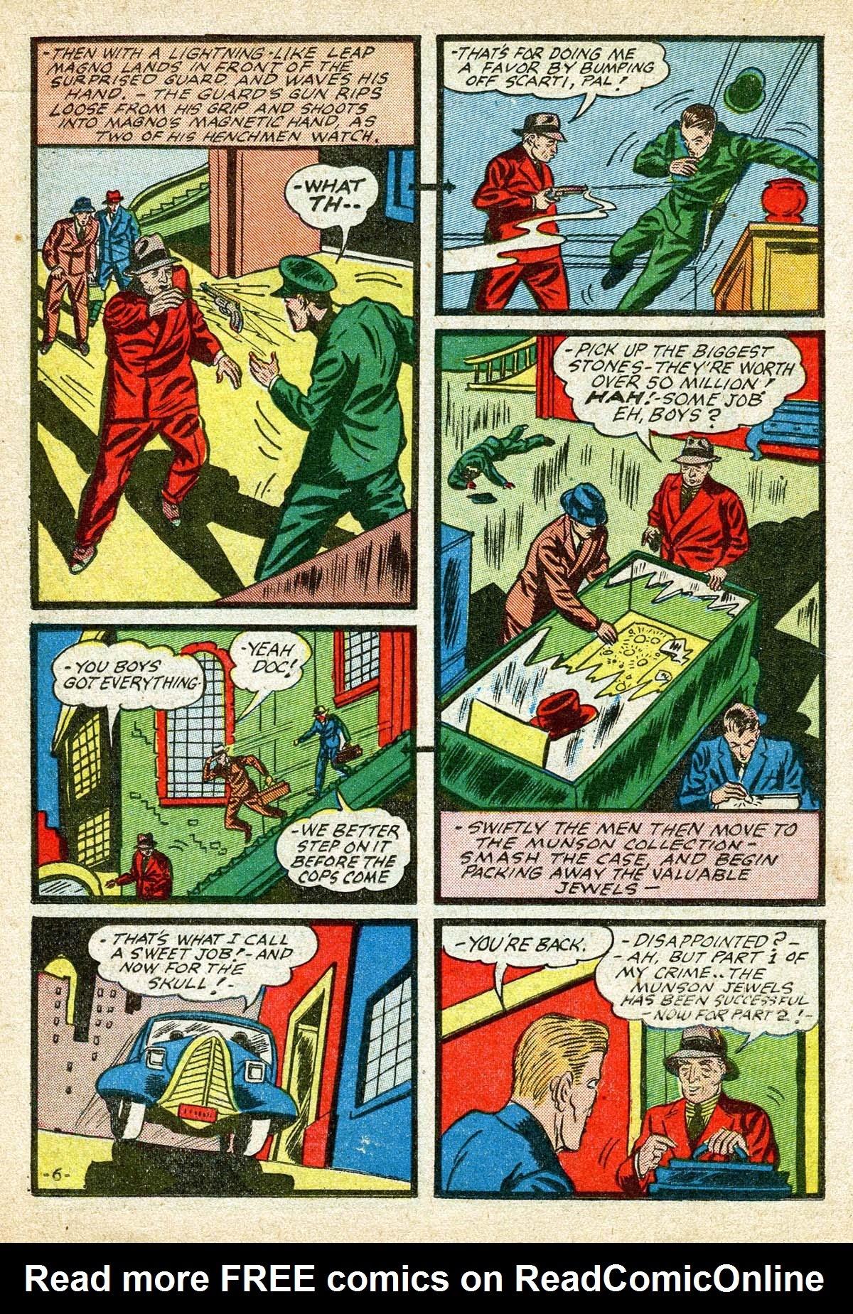 Read online Amazing Man Comics comic -  Issue #8 - 26