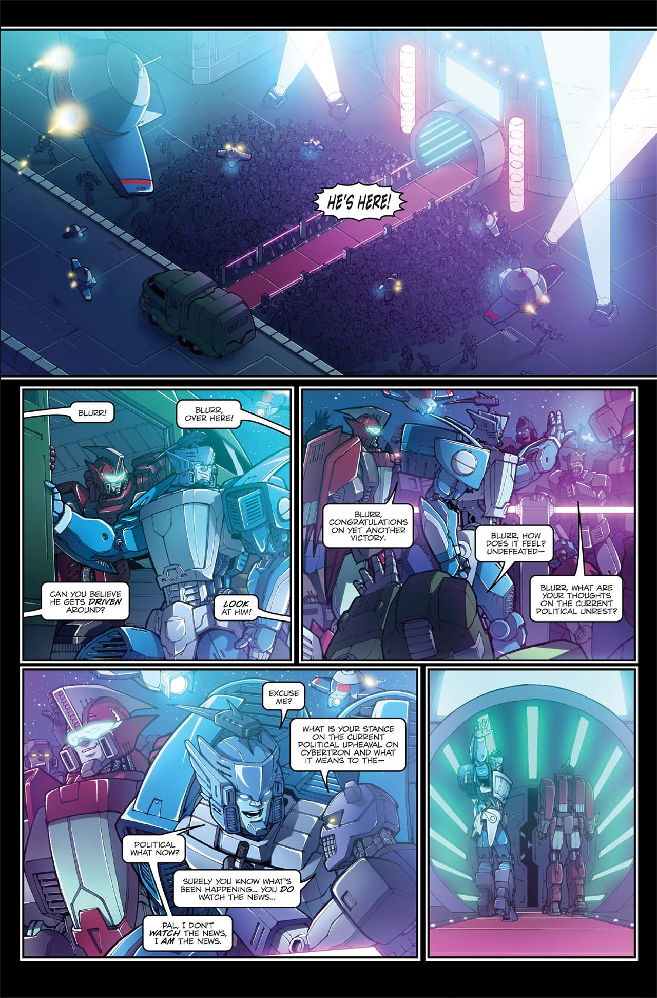 Read online Transformers Spotlight: Blurr comic -  Issue # Full - 9