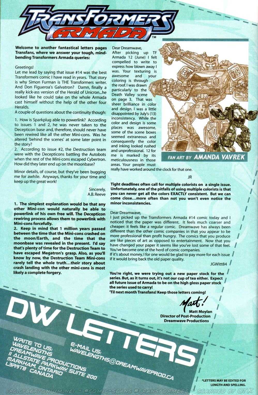 Read online Transformers Armada comic -  Issue #15 - 27