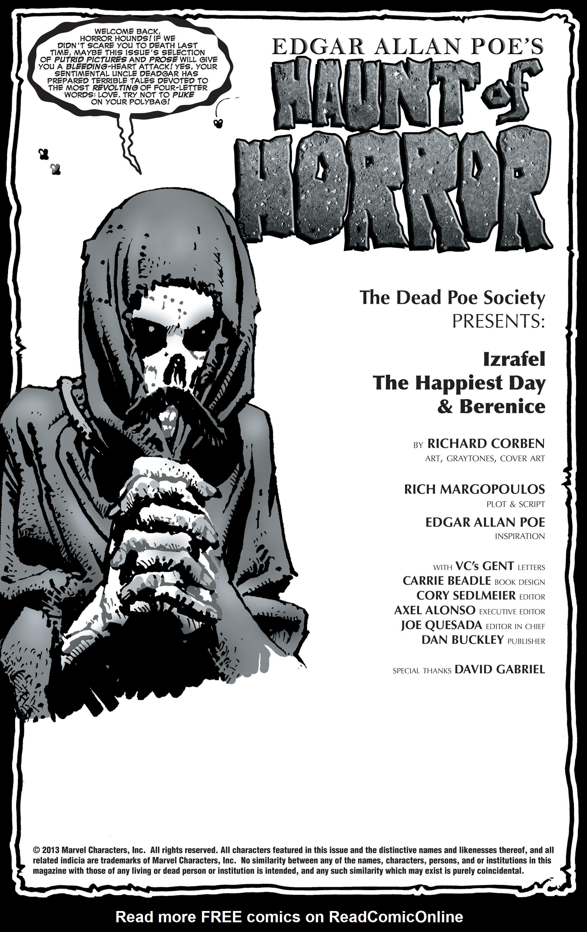 Read online Haunt of Horror: Edgar Allan Poe comic -  Issue #3 - 2