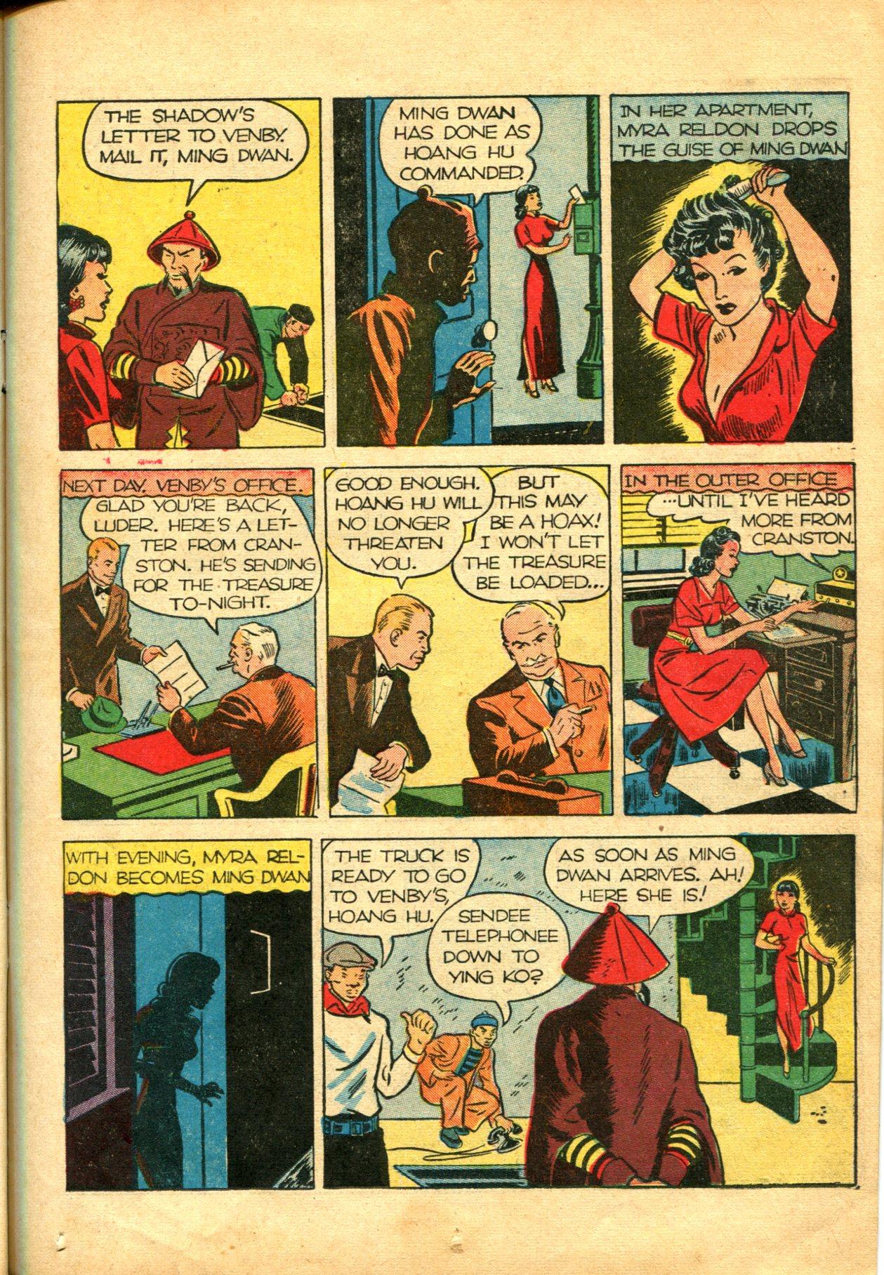 Read online Shadow Comics comic -  Issue #10 - 21