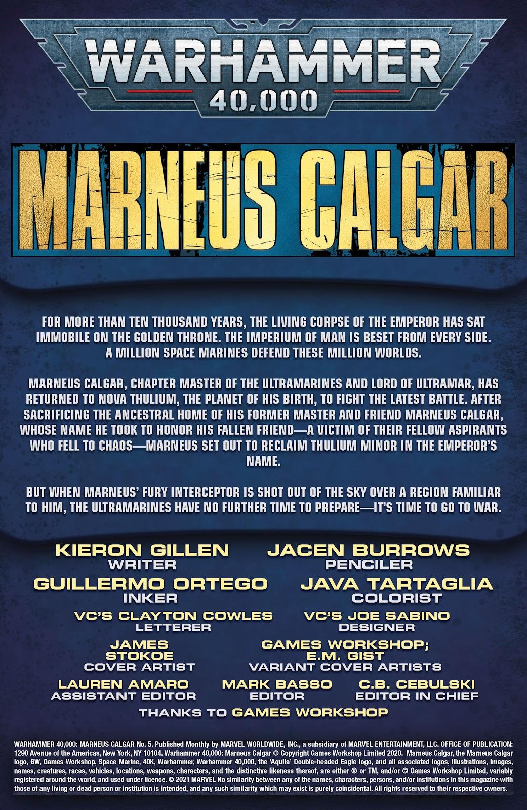 Warhammer 40,000: Marneus Calgar issue 5 - Page 2