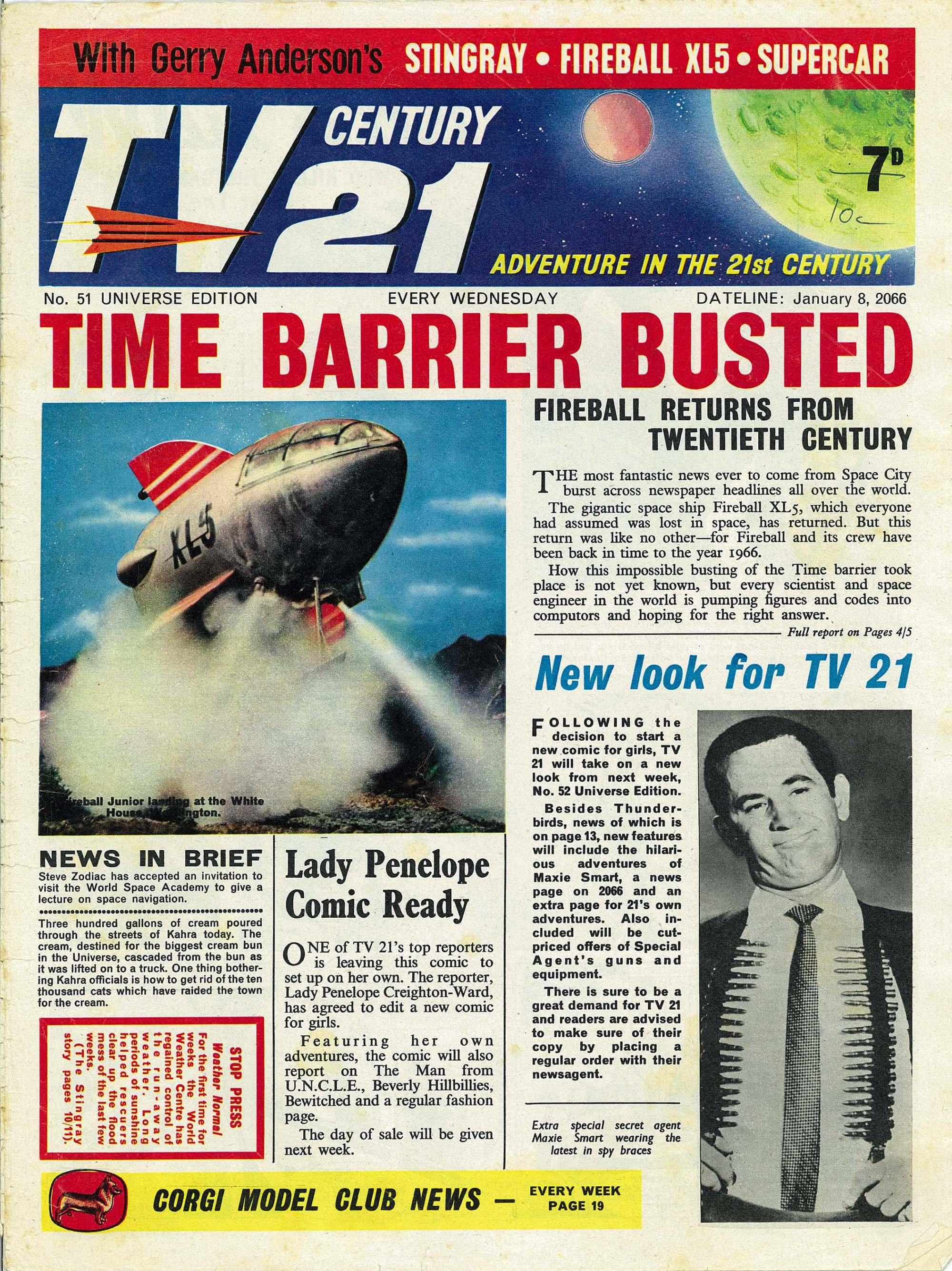Read online TV Century 21 (TV 21) comic -  Issue #51 - 1
