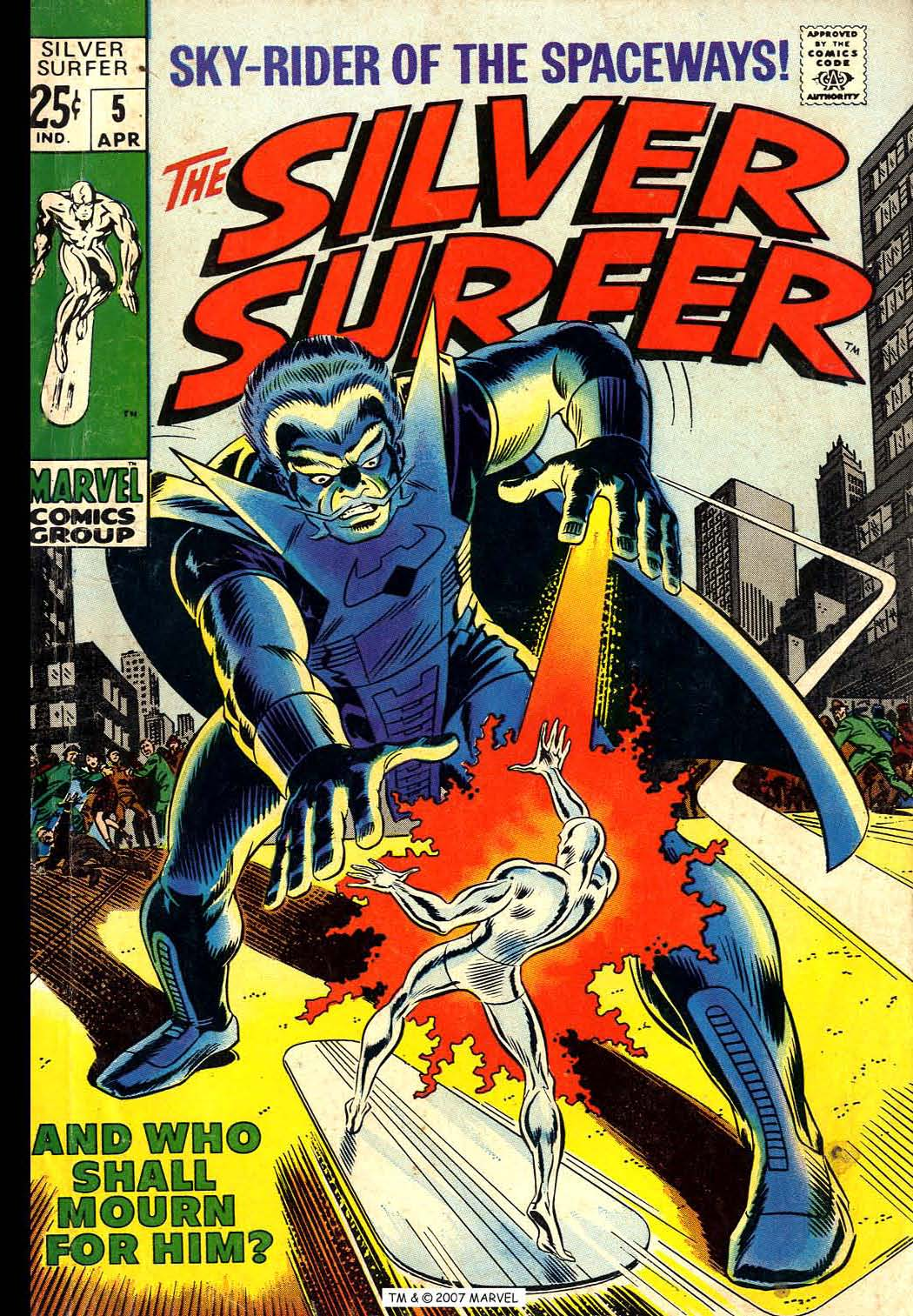 Read online Silver Surfer (1968) comic -  Issue #5 - 1
