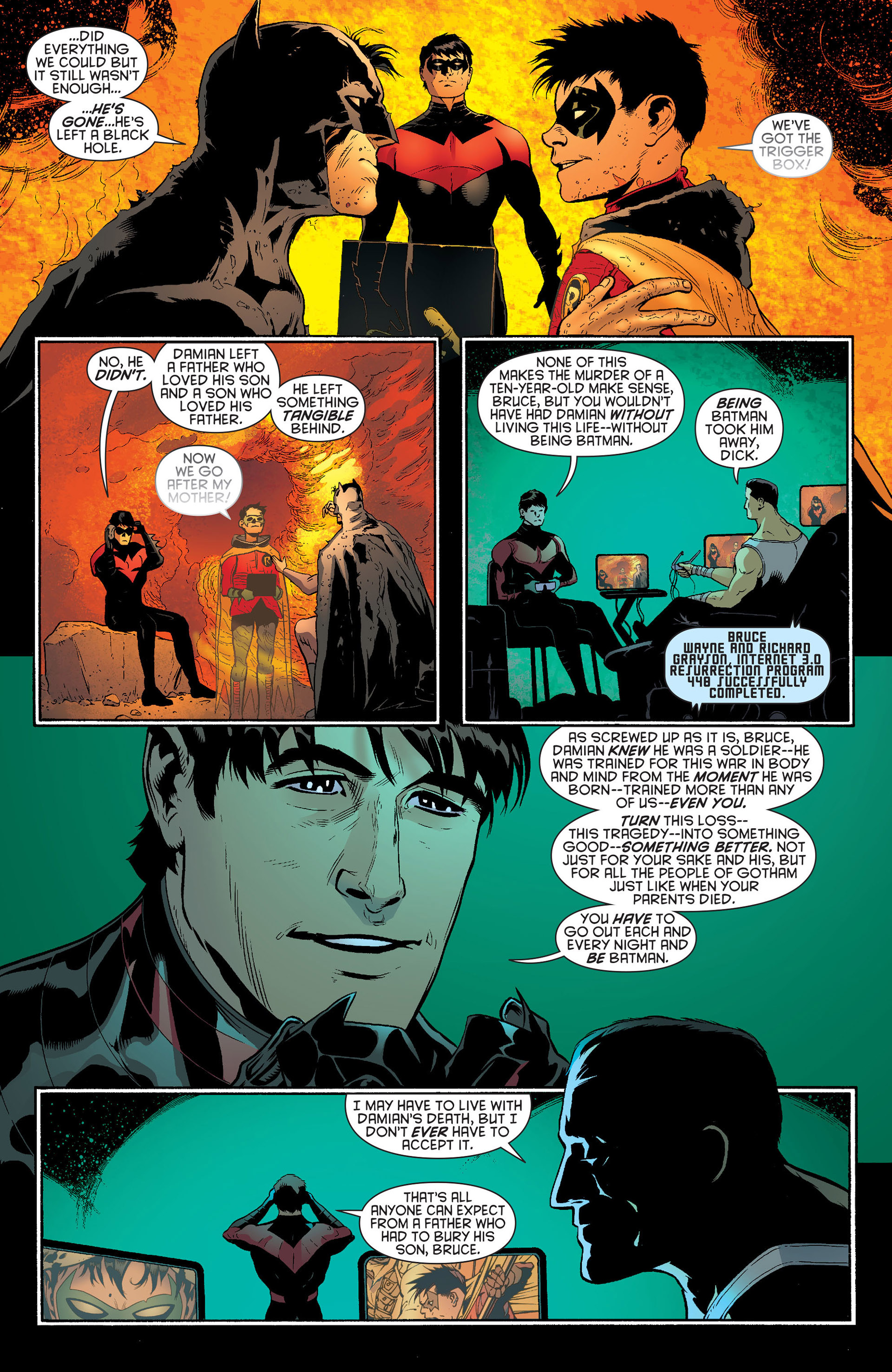 Read online Batman and Robin (2011) comic -  Issue #23 - Batman and Nightwing - 15