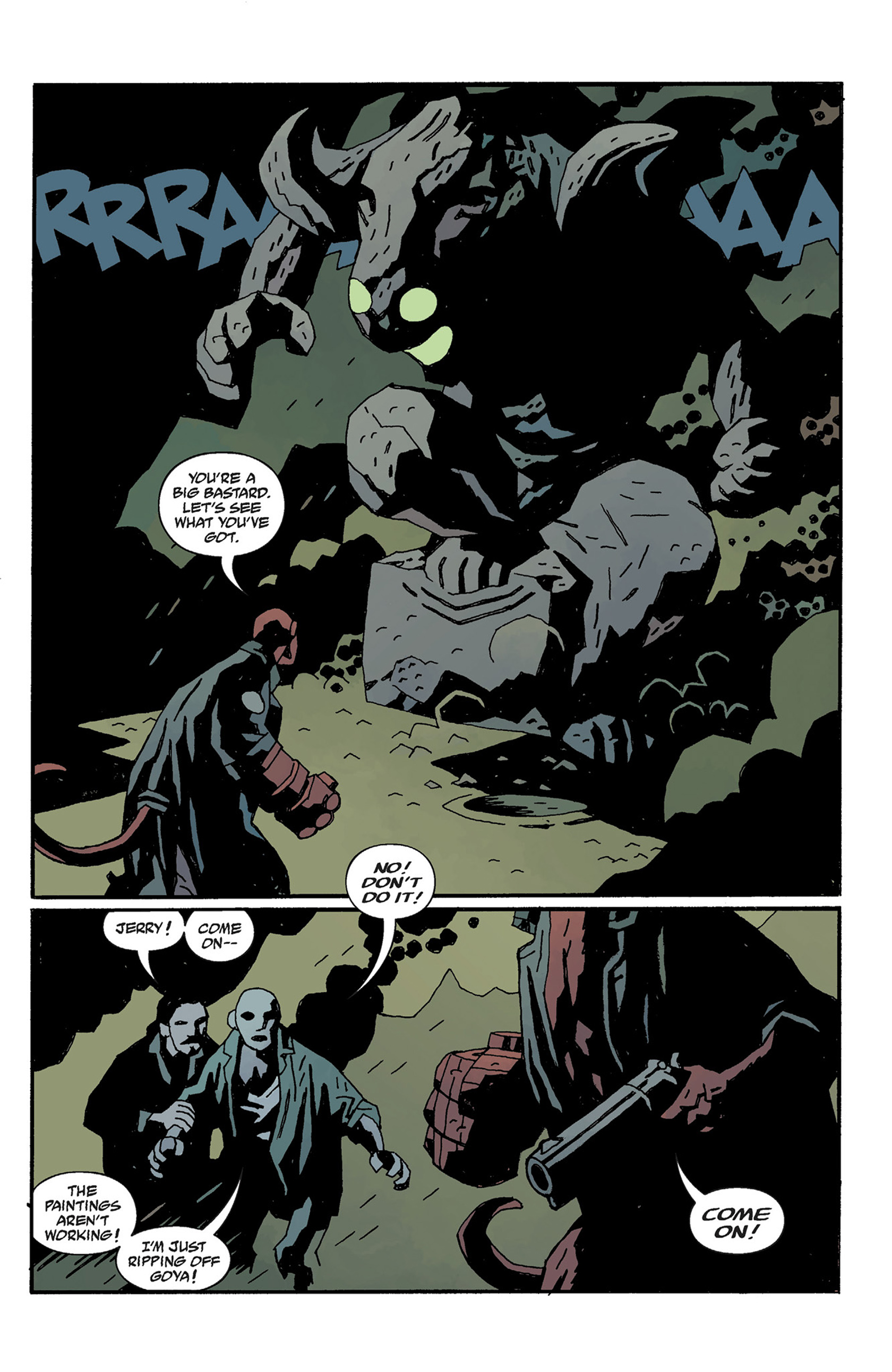 Read online Hellboy: The Crooked Man and Others comic -  Issue # TPB - 127