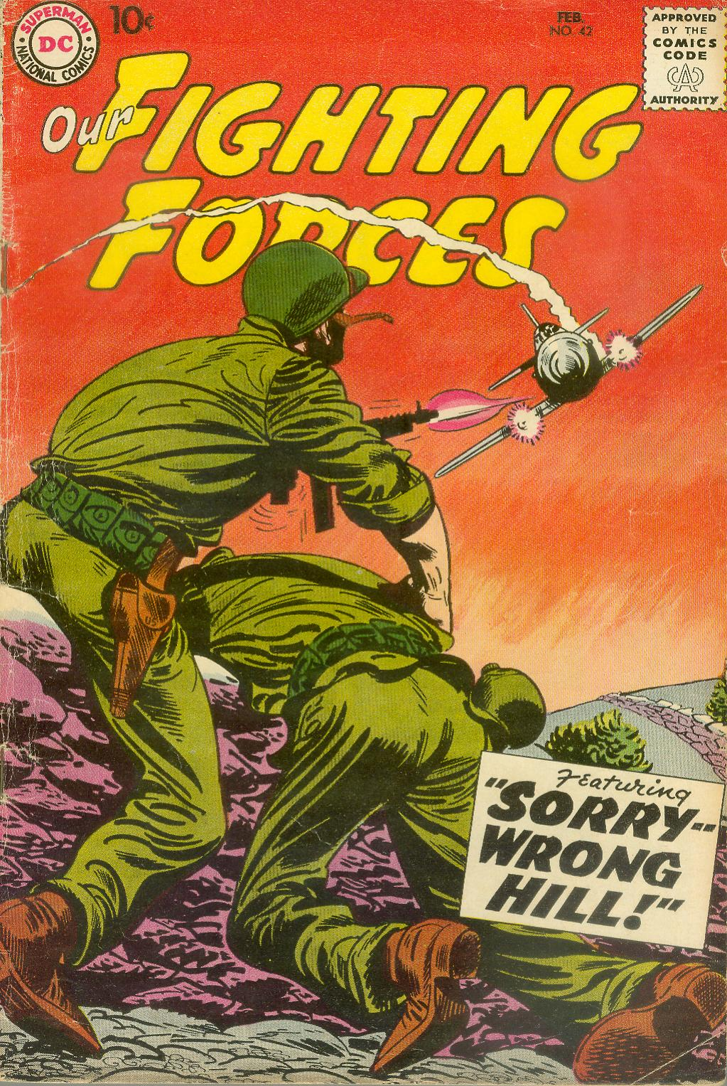 Our Fighting Forces (1954) issue 42 - Page 1