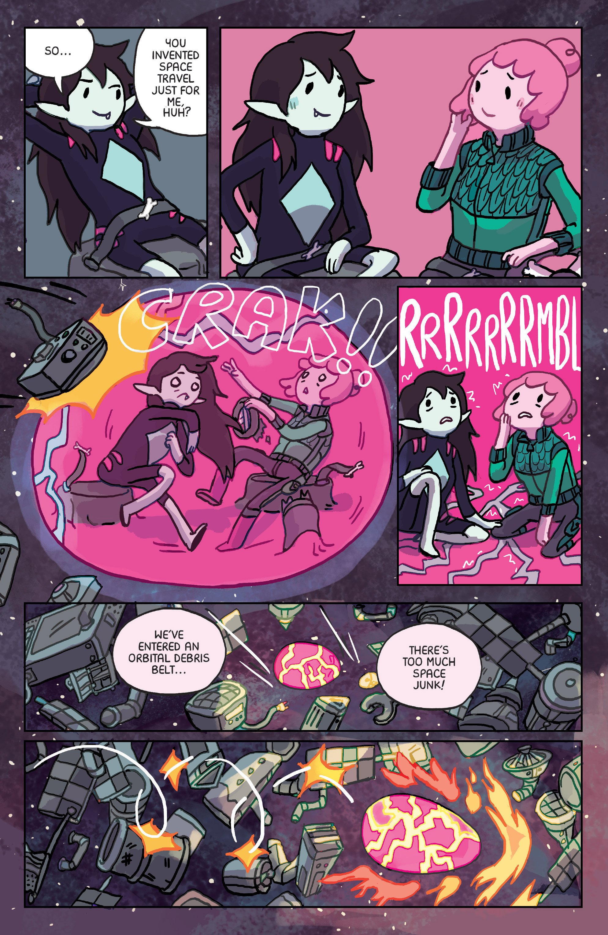 Read online Adventure Time: Marceline Gone Adrift comic -  Issue #6 - 16