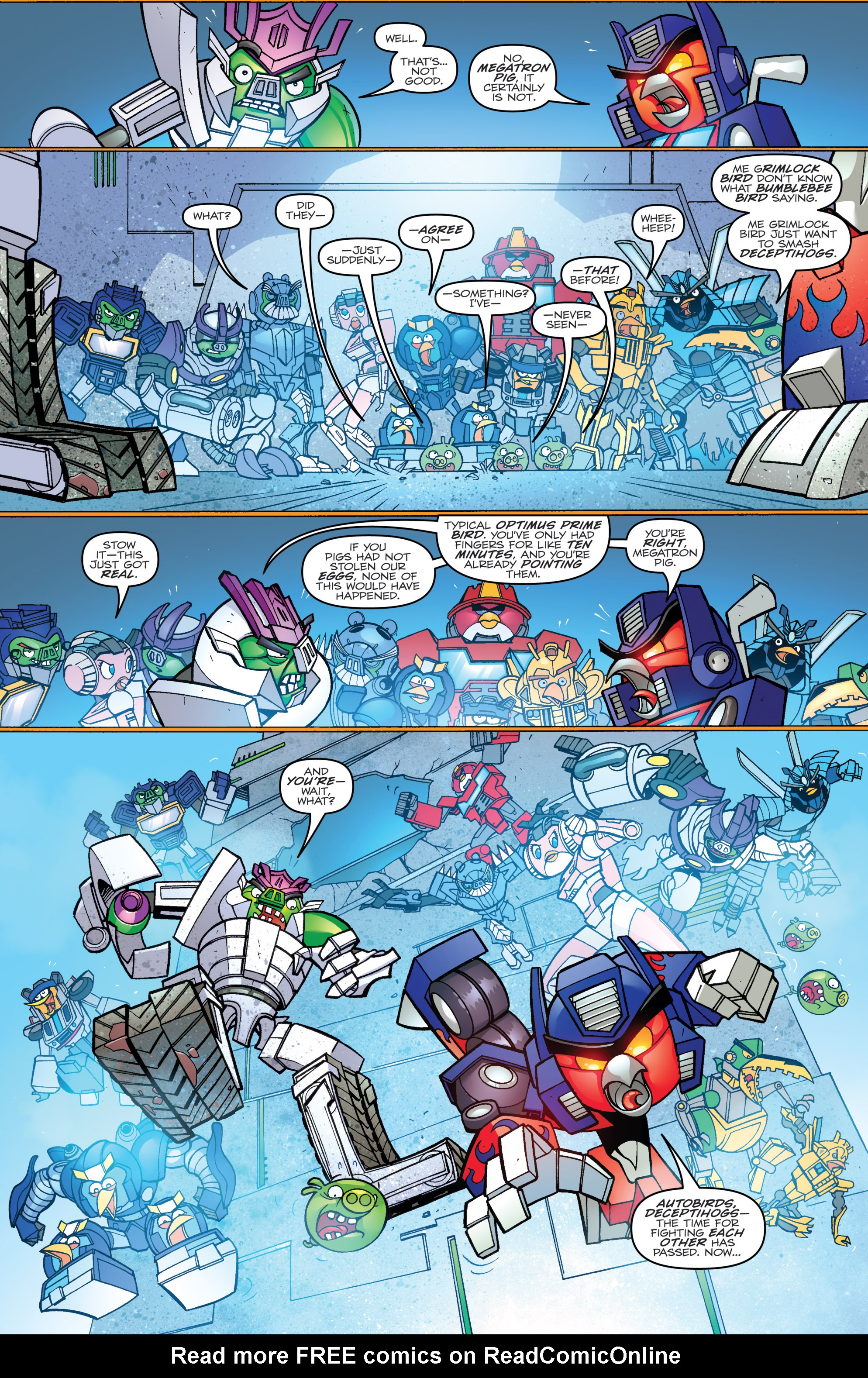 Read online Angry Birds Transformers comic -  Issue #3 - 3