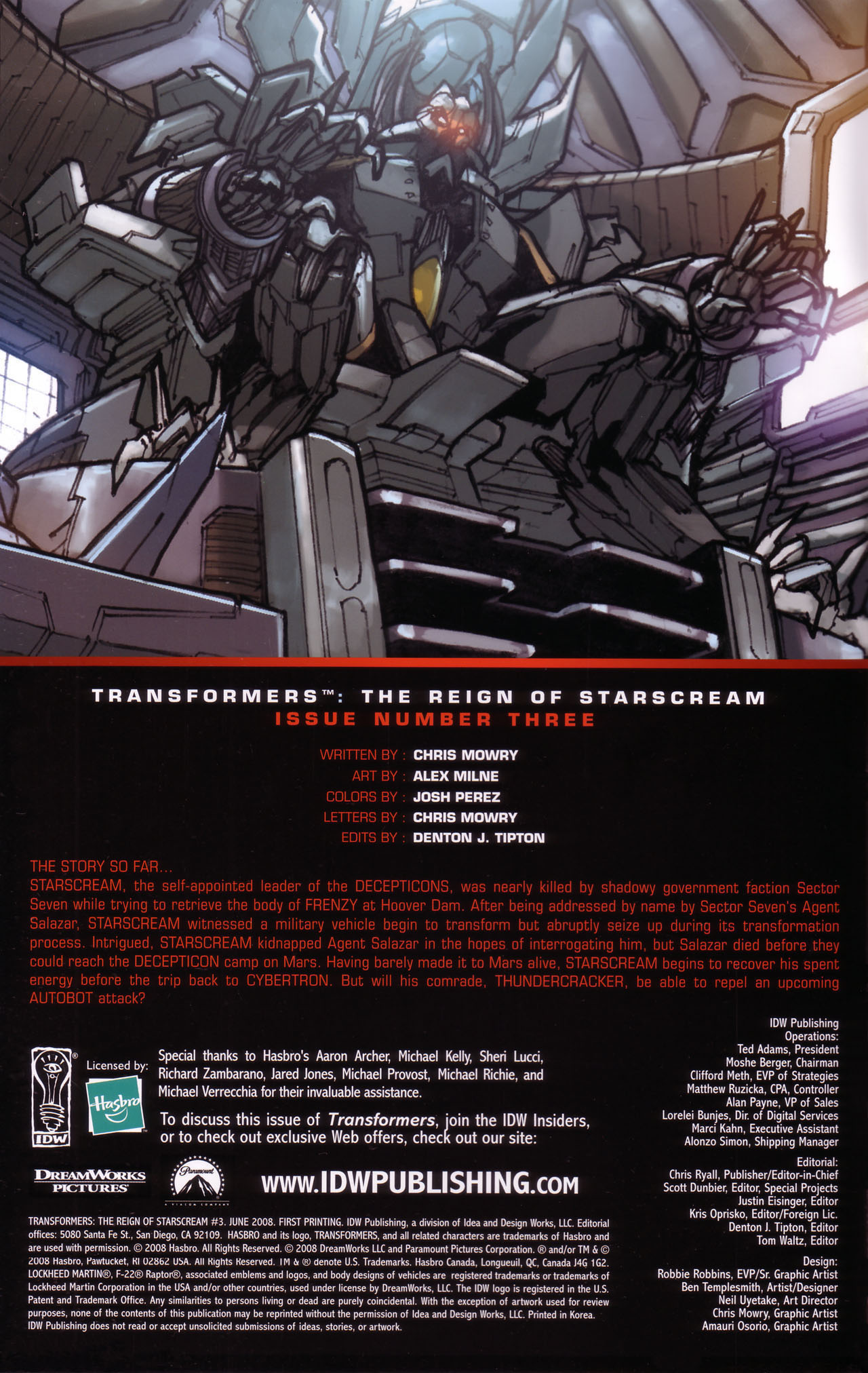 Read online Transformers: The Reign of Starscream comic -  Issue #3 - 2