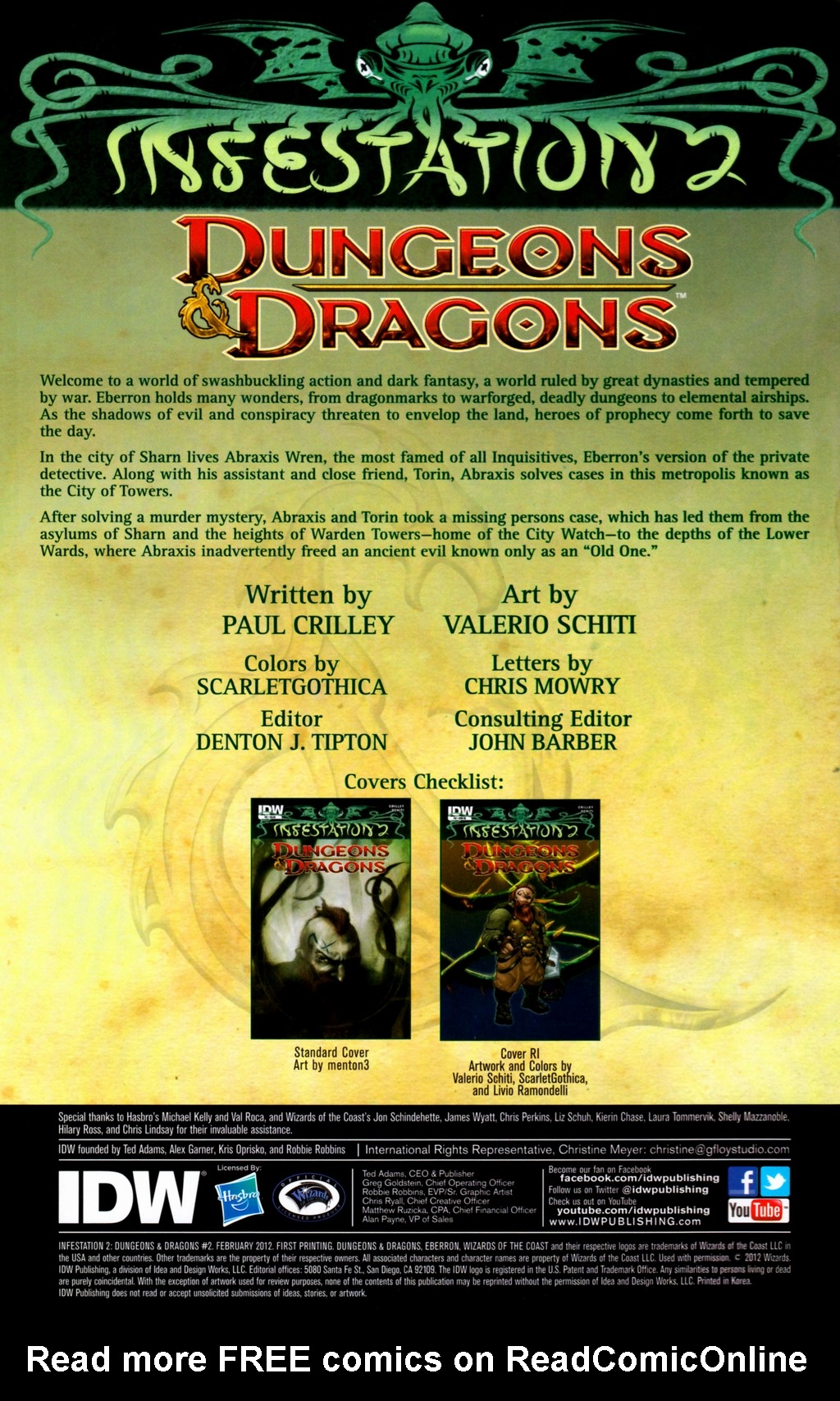 Read online Infestation 2: Dungeons & Dragons comic -  Issue #2 - 2