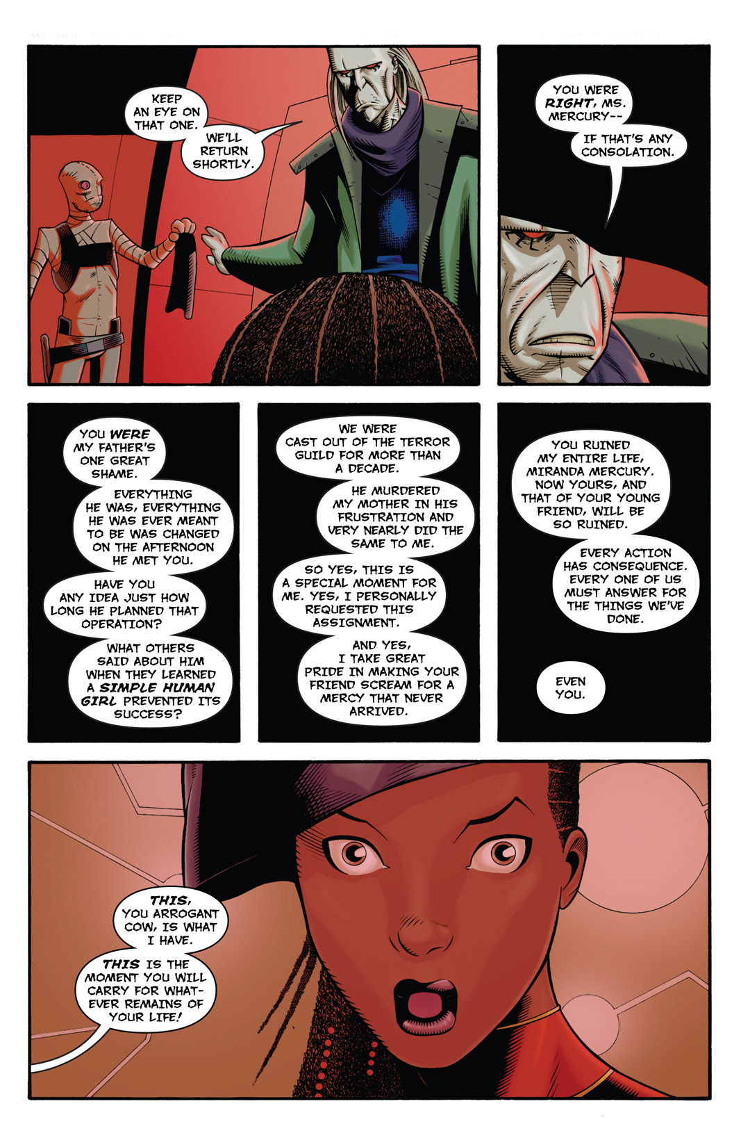 Read online The Many Adventures of Miranda Mercury: Time Runs Out comic -  Issue # TPB - 126