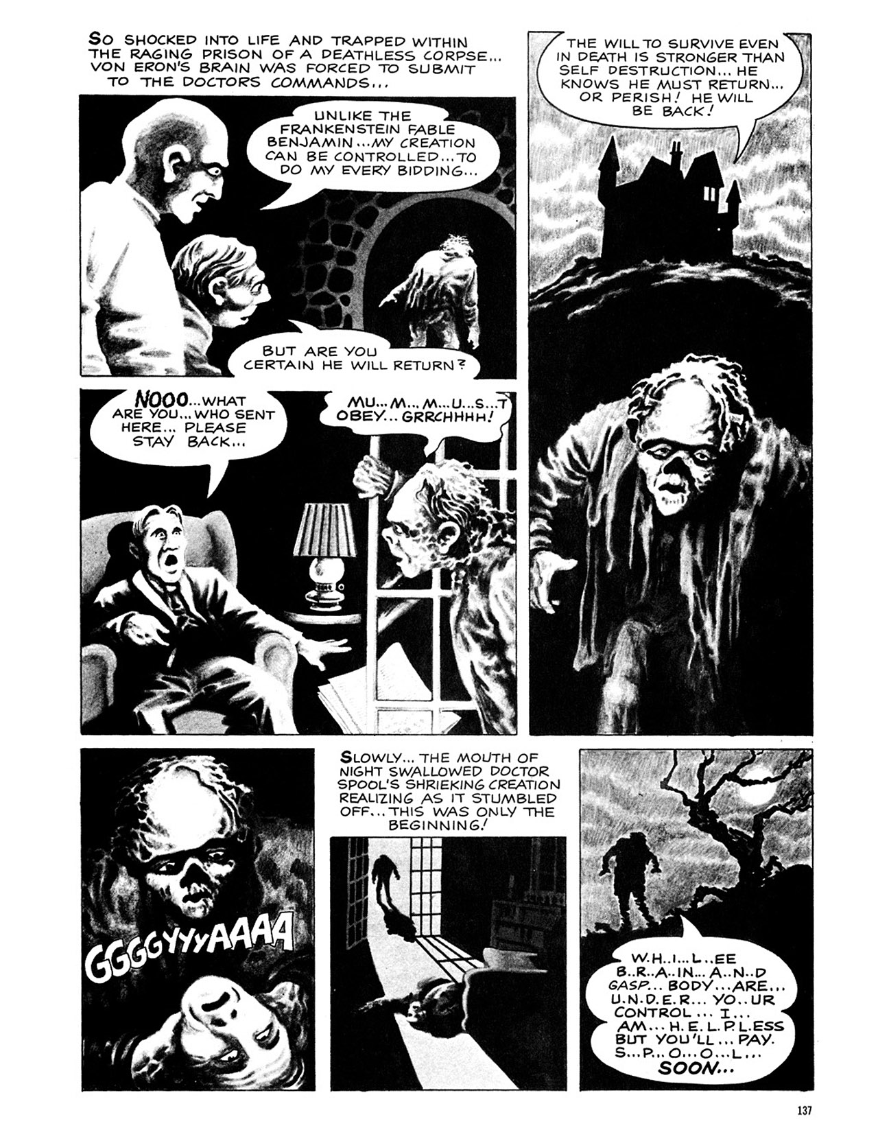 Read online Eerie Archives comic -  Issue # TPB 4 - 138