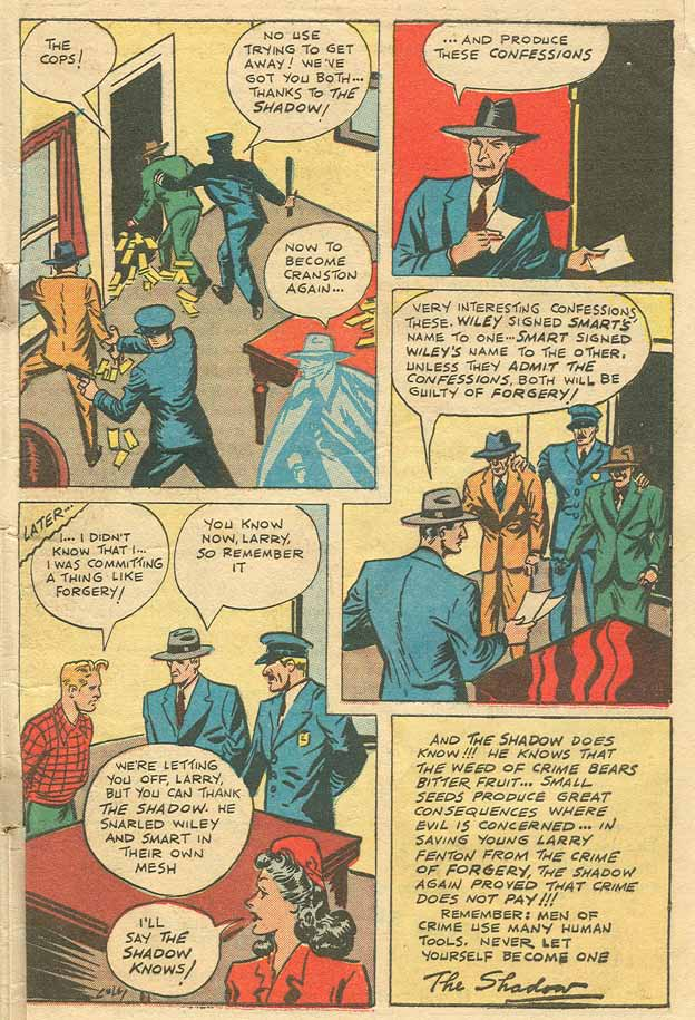 Read online Shadow Comics comic -  Issue #79 - 45