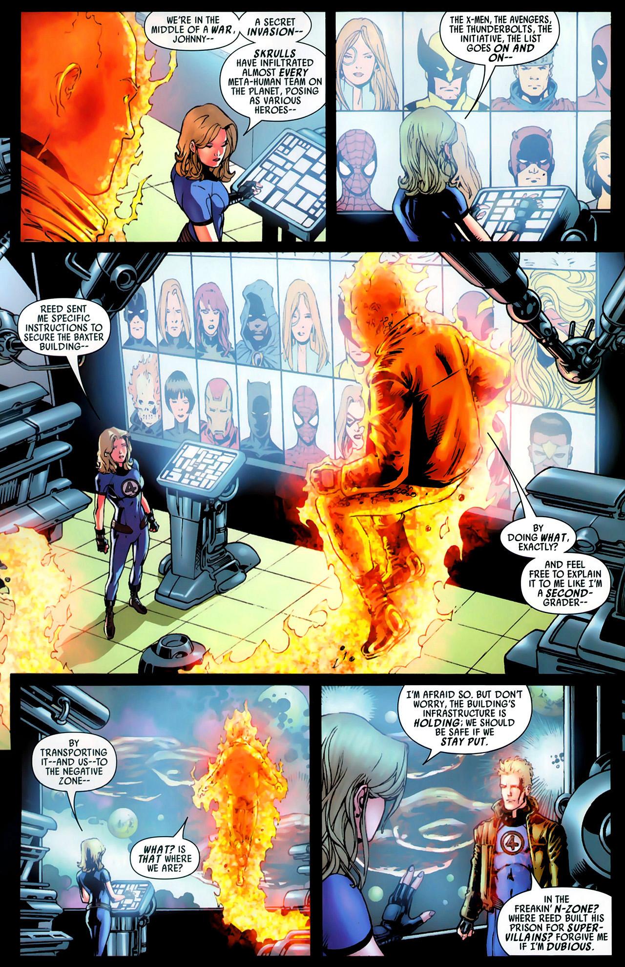 Read online Secret Invasion: Fantastic Four comic -  Issue #1 - 18