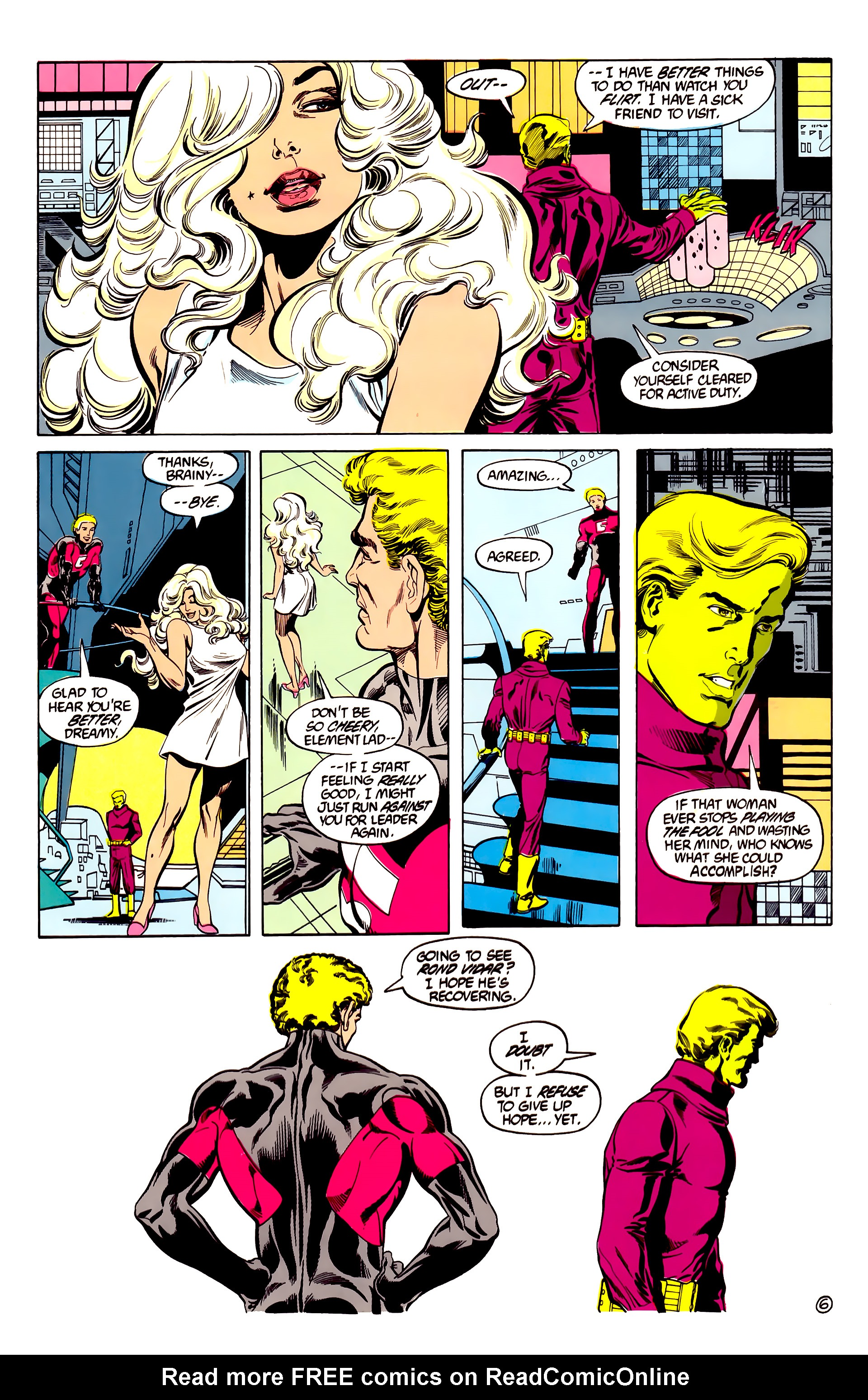 Legion of Super-Heroes (1984) 28 Page 7