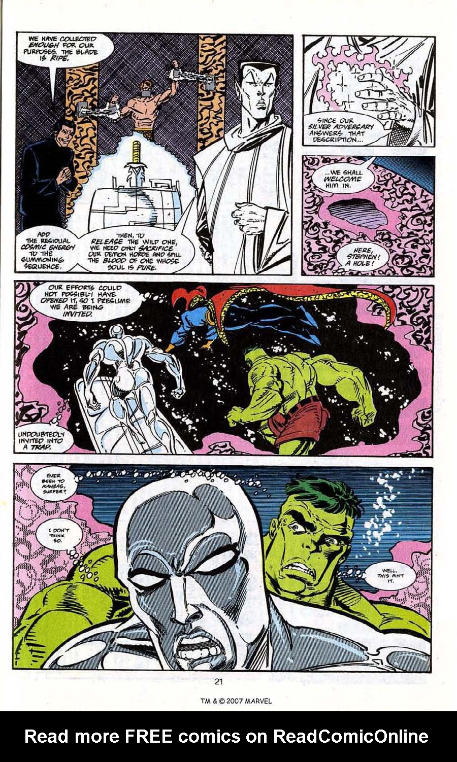 Read online Silver Surfer (1987) comic -  Issue # _Annual 5 - 23