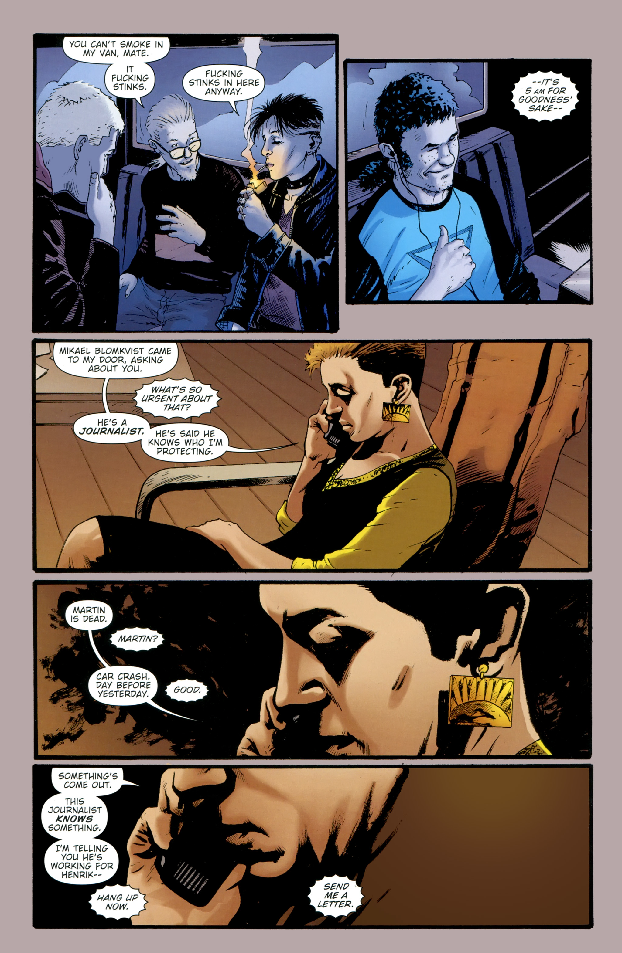 Read online The Girl With the Dragon Tattoo comic -  Issue # TPB 2 - 130