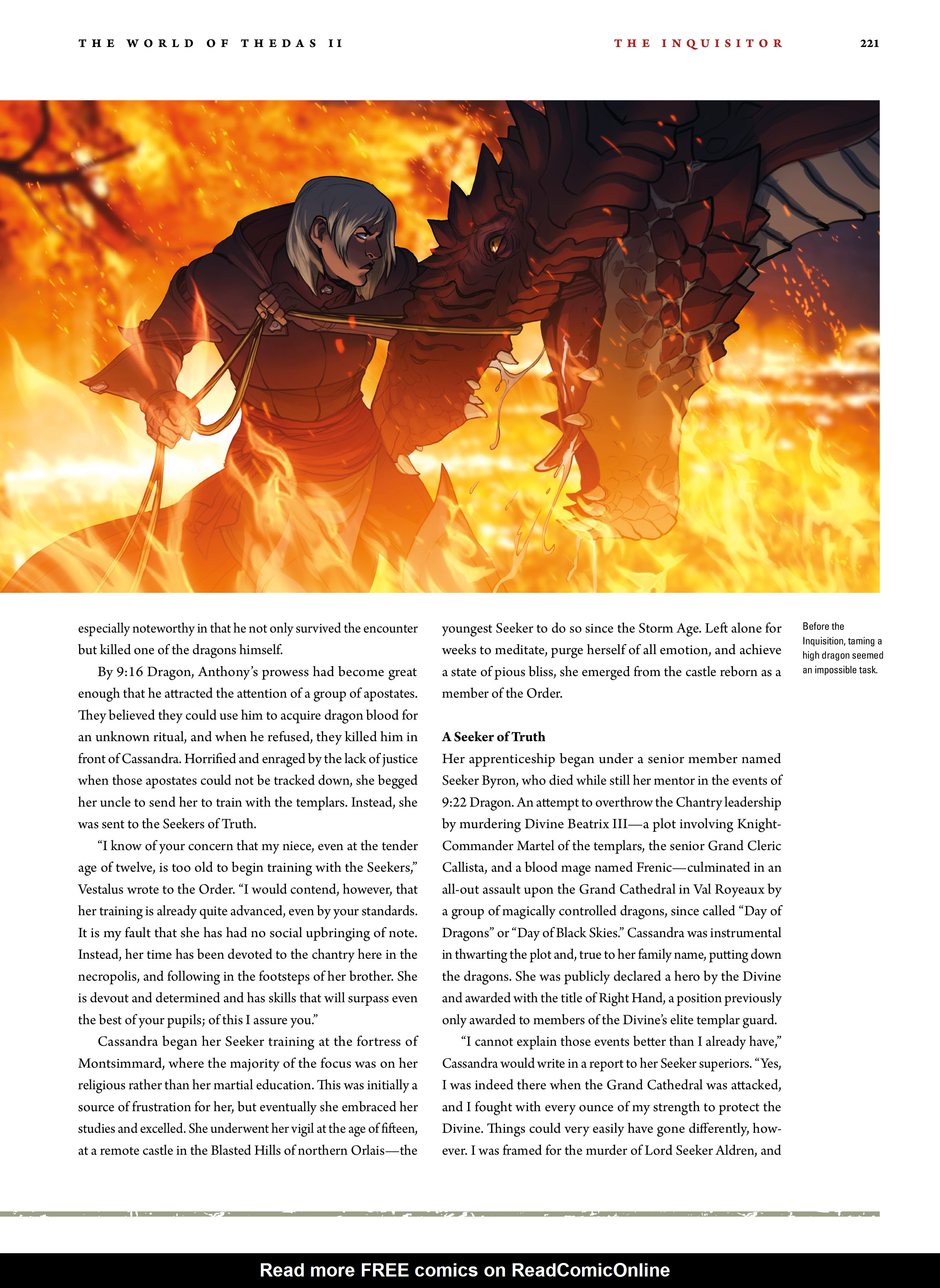 Read online Dragon Age: The World of Thedas comic -  Issue # TPB 2 - 216