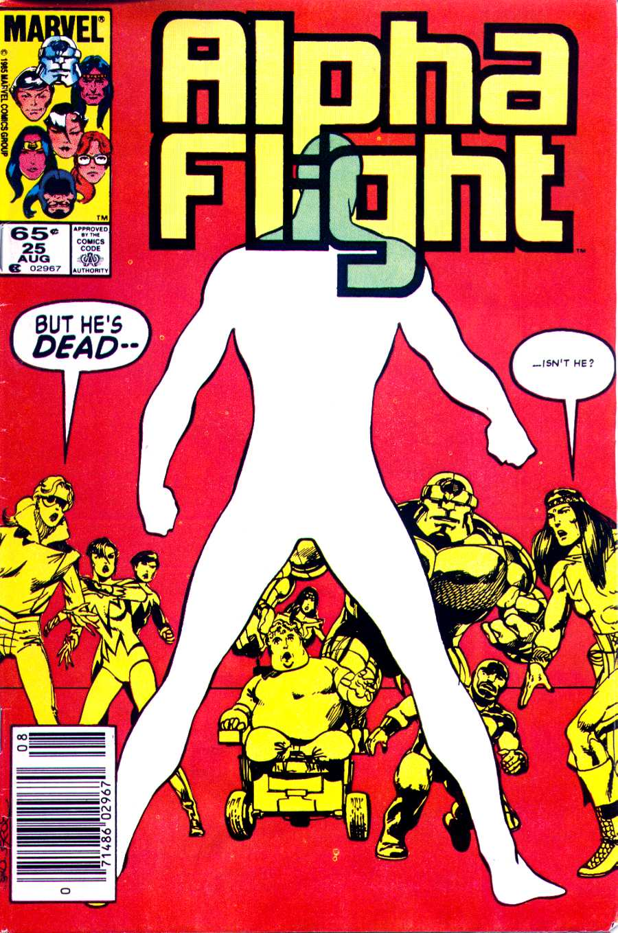 Read online Alpha Flight (1983) comic -  Issue #25 - 1