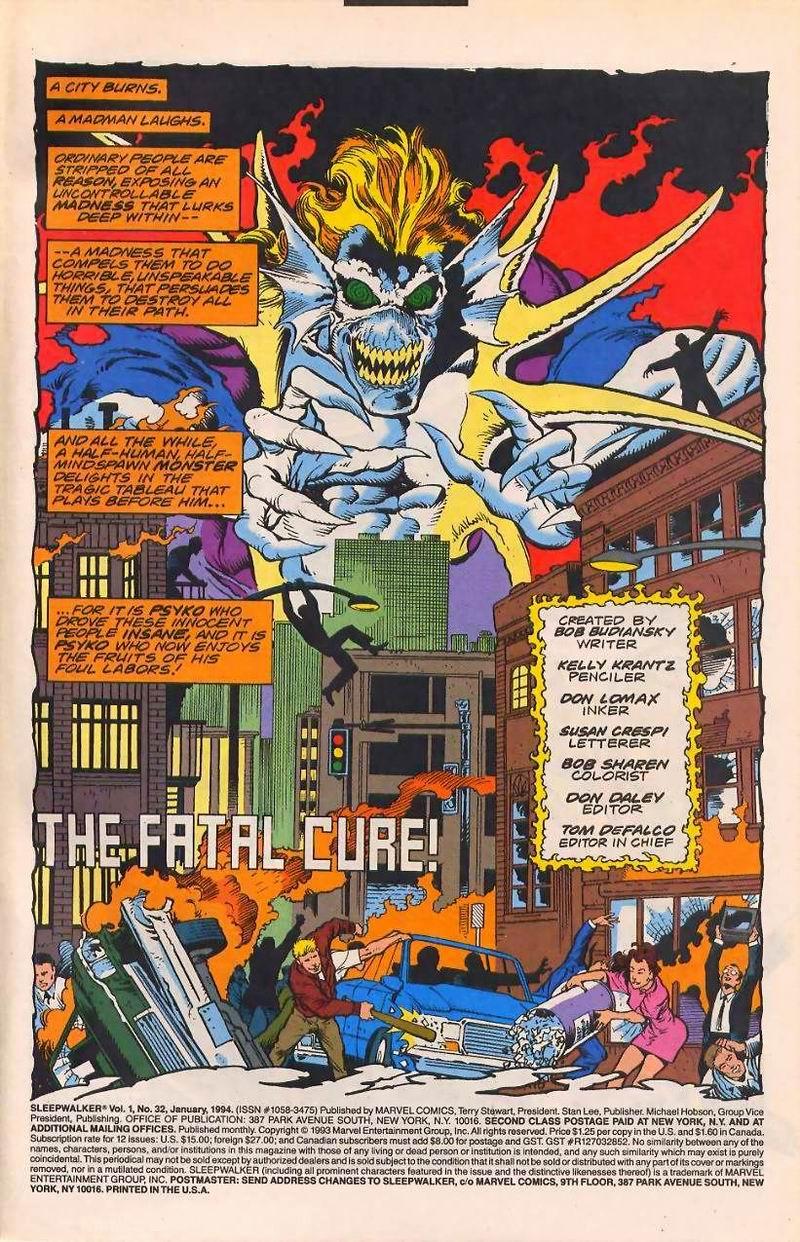 Read online Sleepwalker comic -  Issue #32 - 2