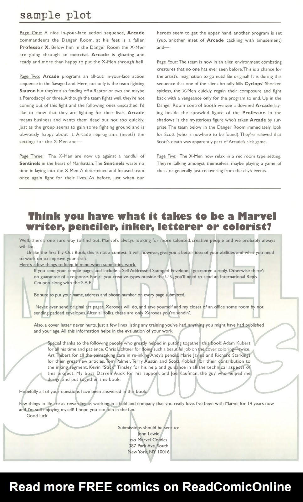 Read online The New Official Marvel Try-Out Book comic -  Issue # Full - 25