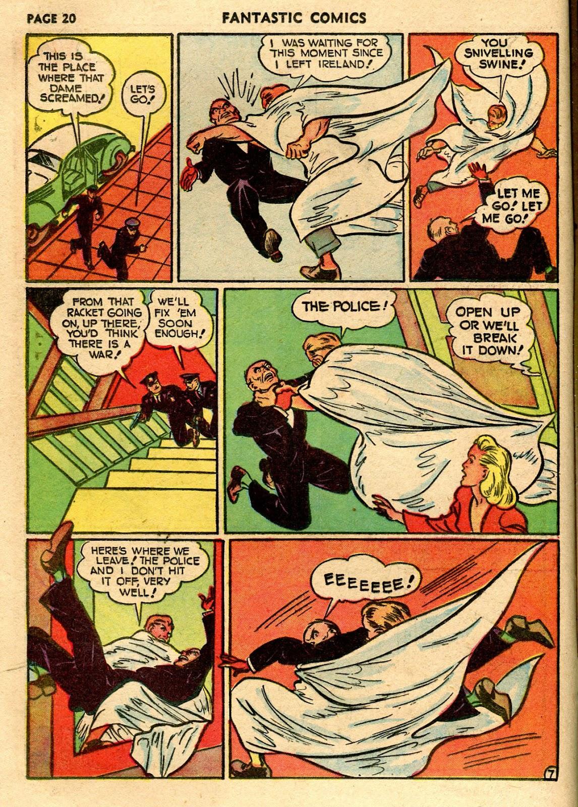Read online Fantastic Comics comic -  Issue #21 - 22