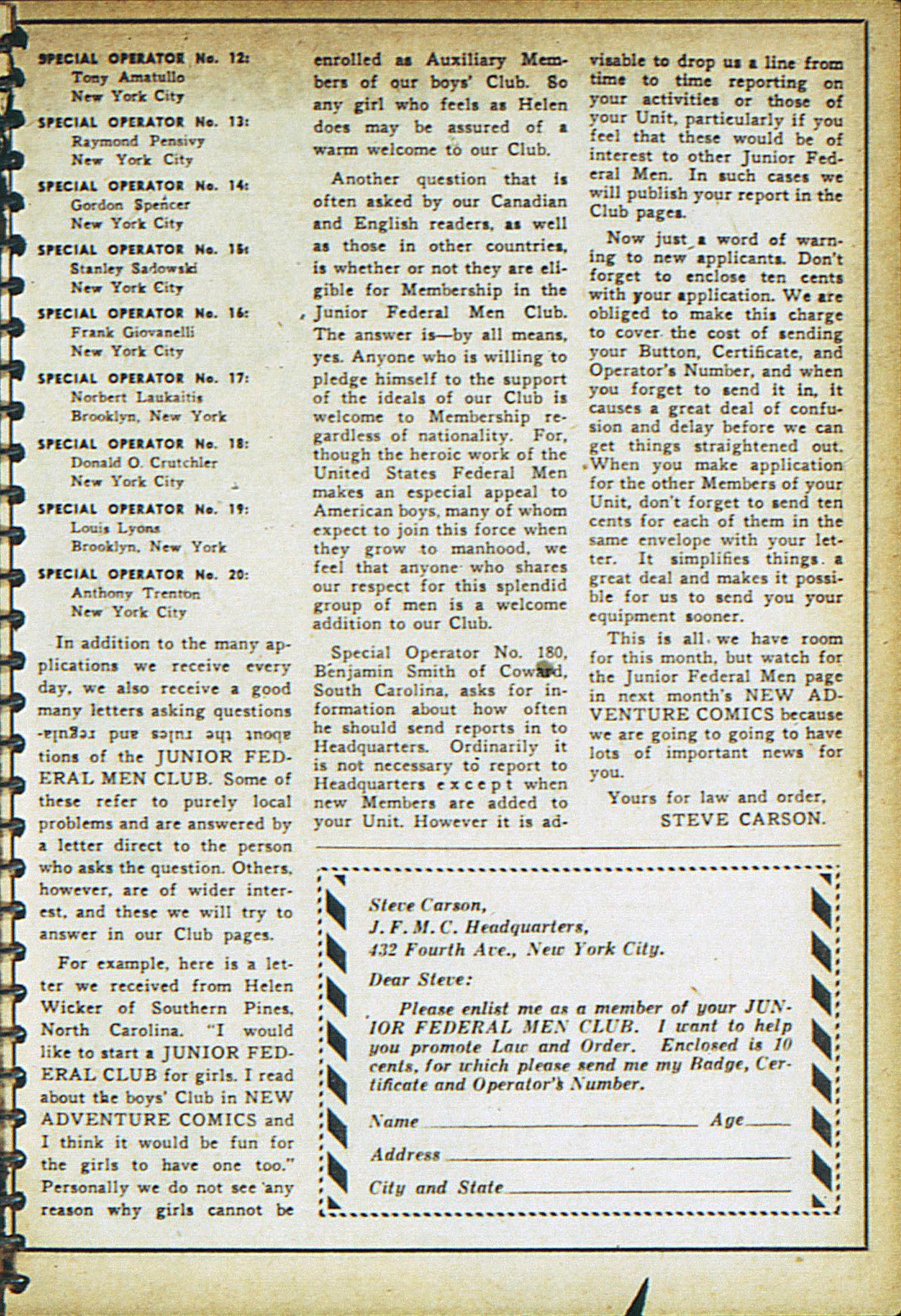 Read online Adventure Comics (1938) comic -  Issue #18 - 22