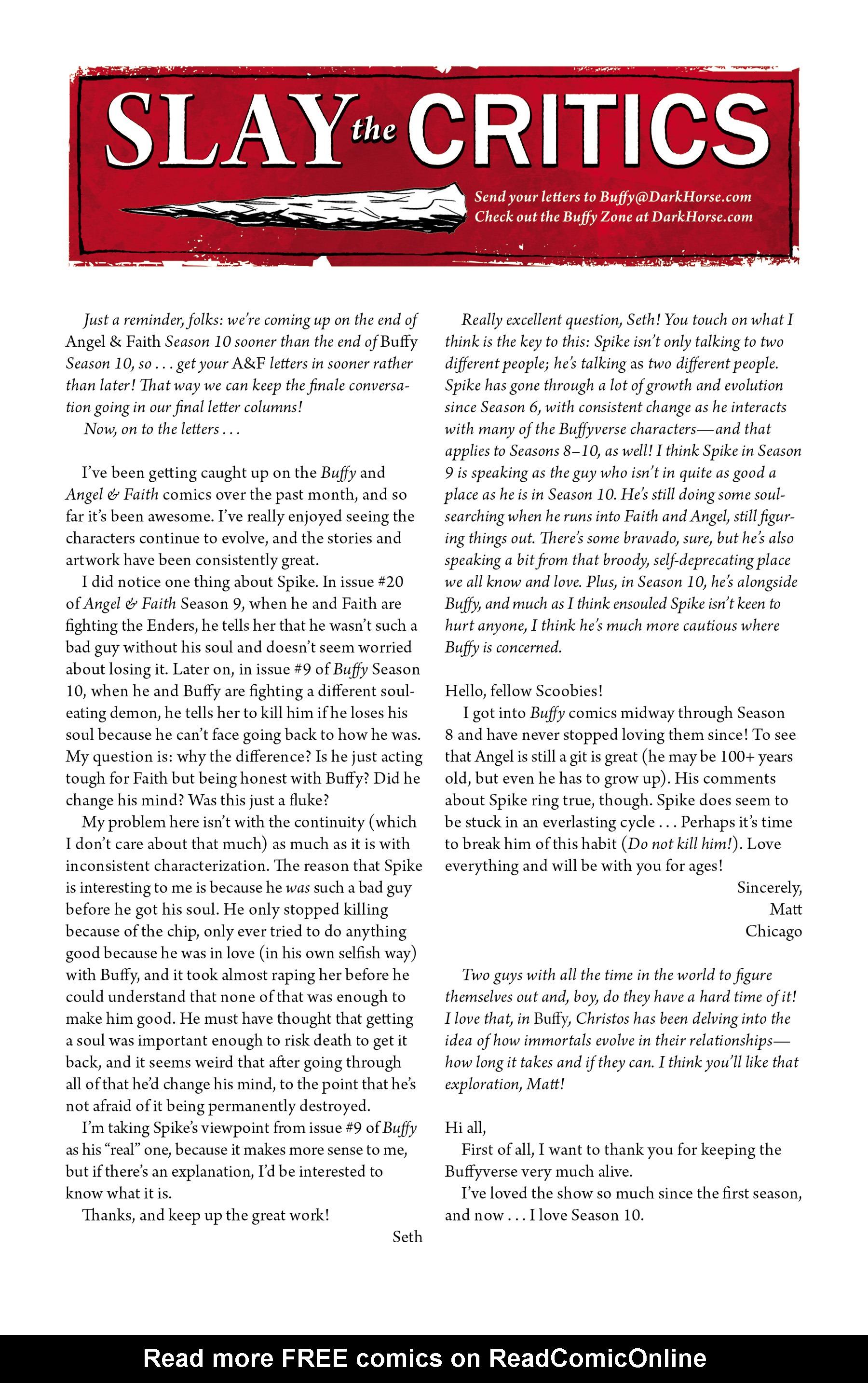 Read online Angel & Faith Season 10 comic -  Issue #19 - 25
