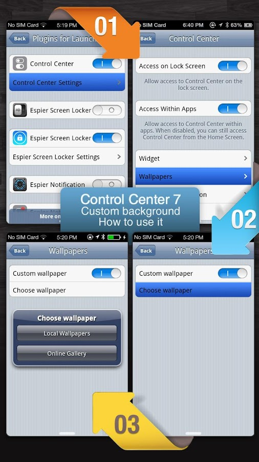 Espier Control Center 7 Pro v1.2.6 APK Personalization Apps Free Download