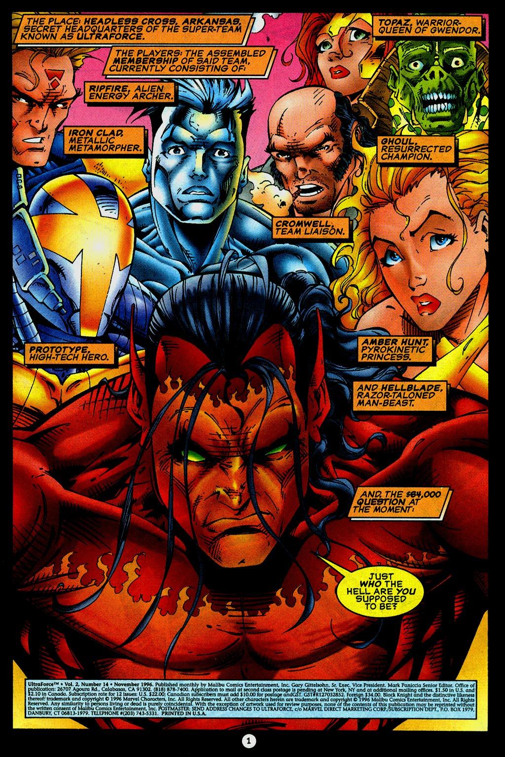 Read online UltraForce (1995) comic -  Issue #14 - 2