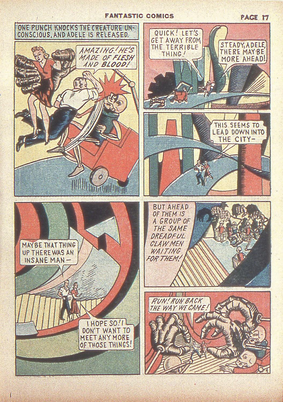 Read online Fantastic Comics comic -  Issue #4 - 19