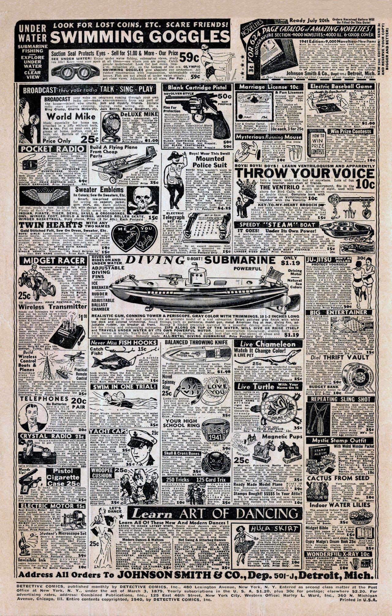 Read online Detective Comics (1937) comic -  Issue #44 - 2